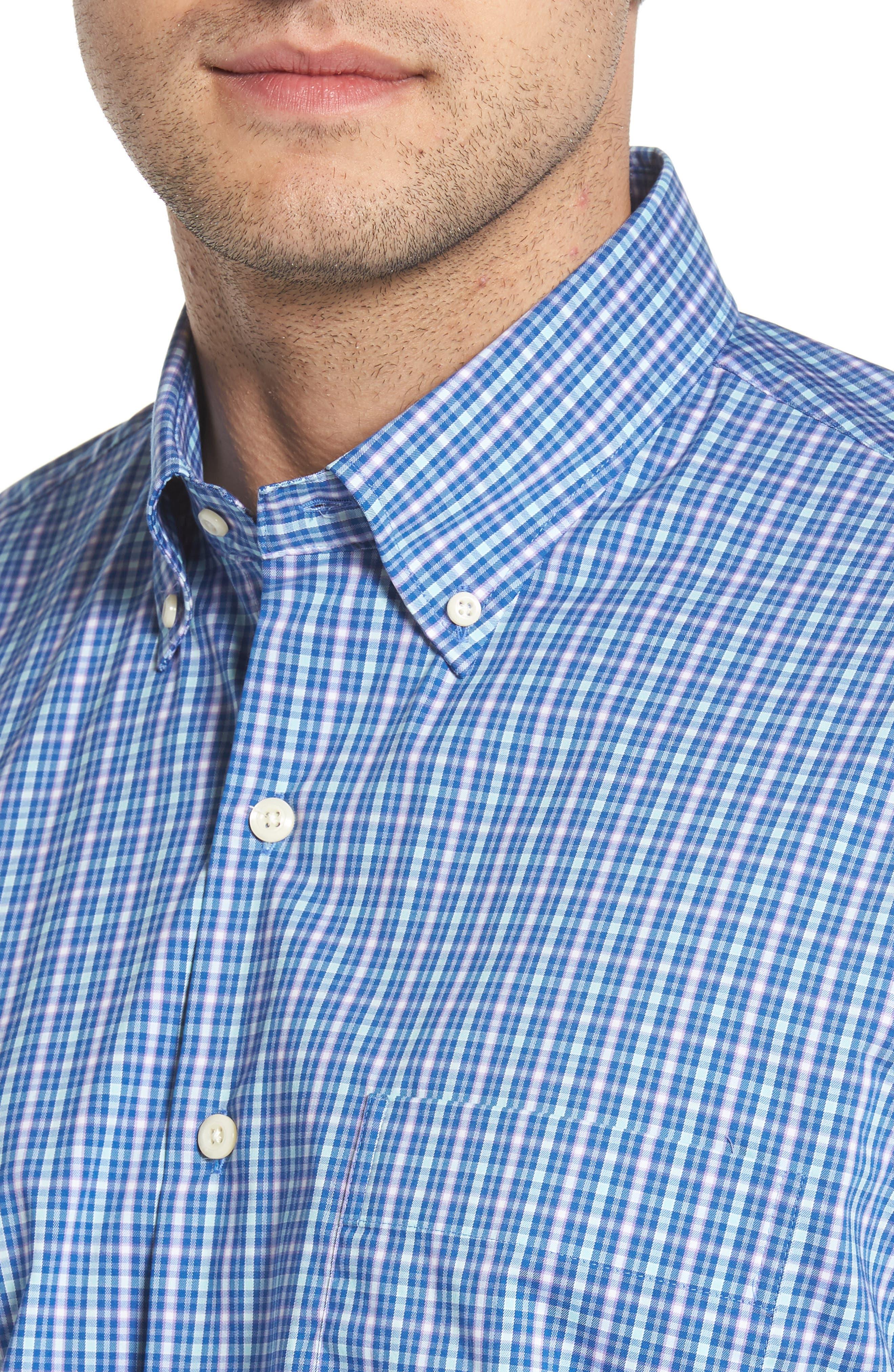 Crown Comfort Finch Multicheck Sport Shirt,                             Alternate thumbnail 4, color,                             422