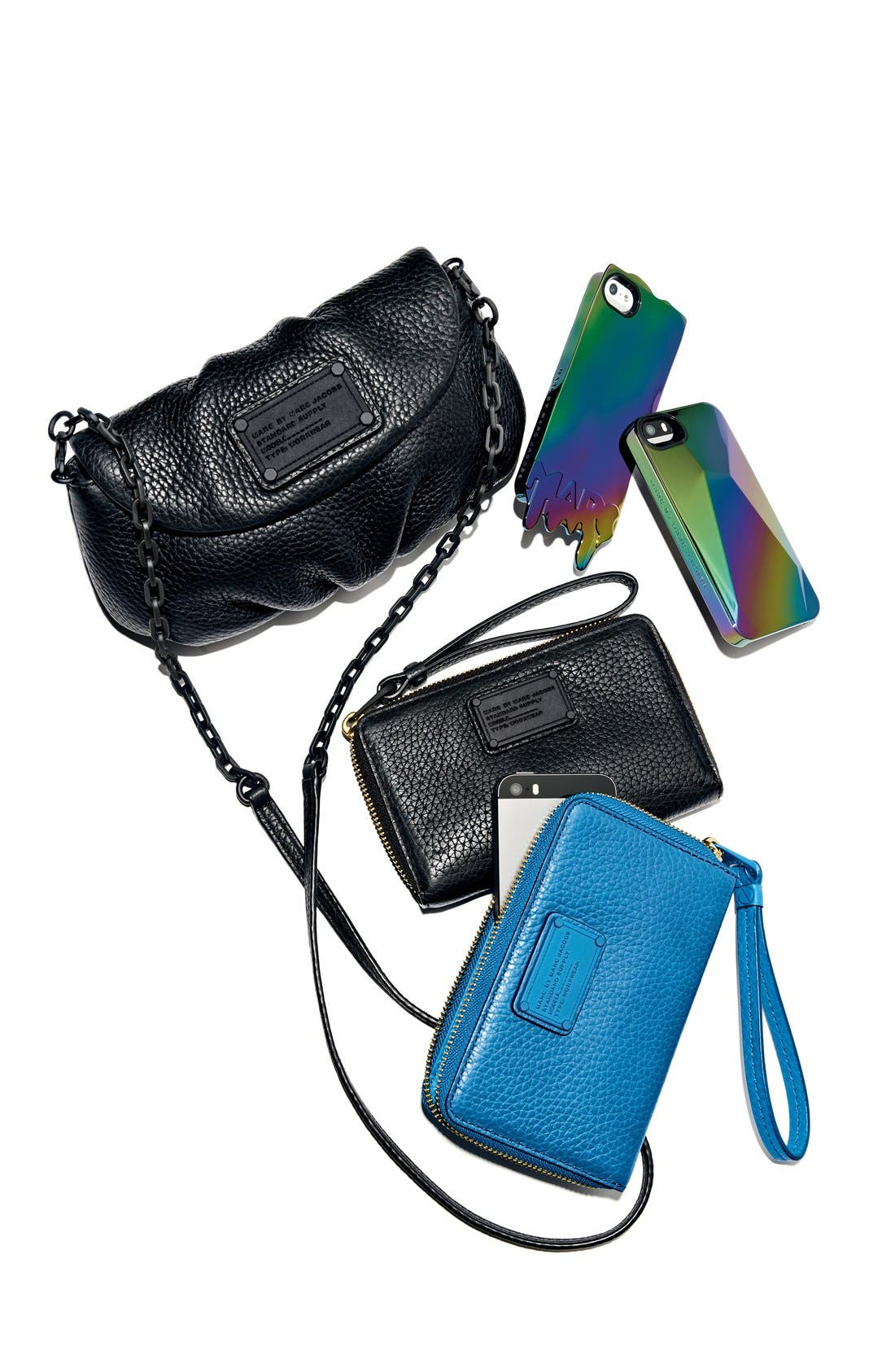 MARC BY MARC JACOBS 'Metallic 3D' iPhone 5 & 5s Case,                             Alternate thumbnail 2, color,                             001