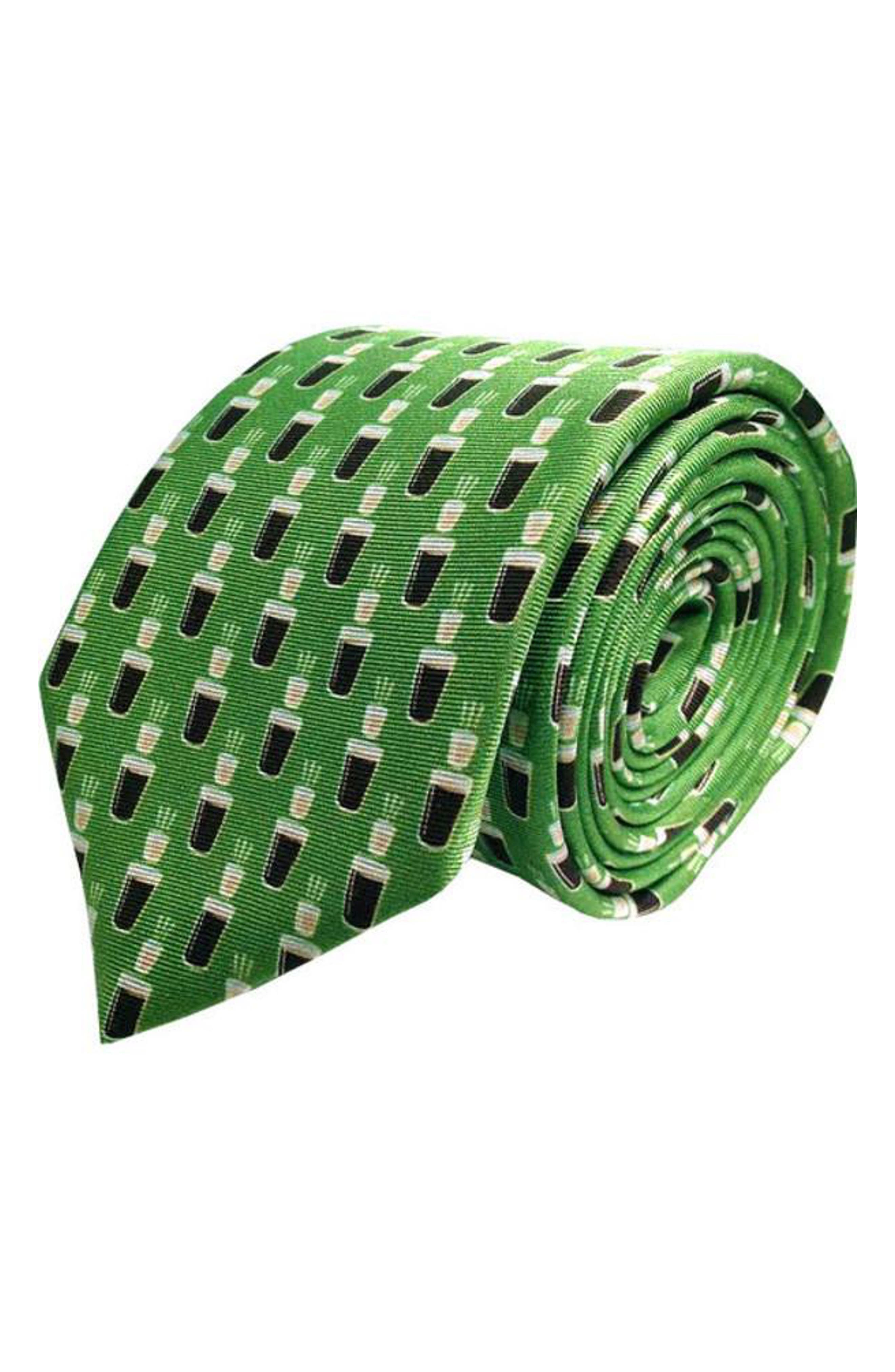 Irish Carbomb Silk Tie,                         Main,                         color, GREEN