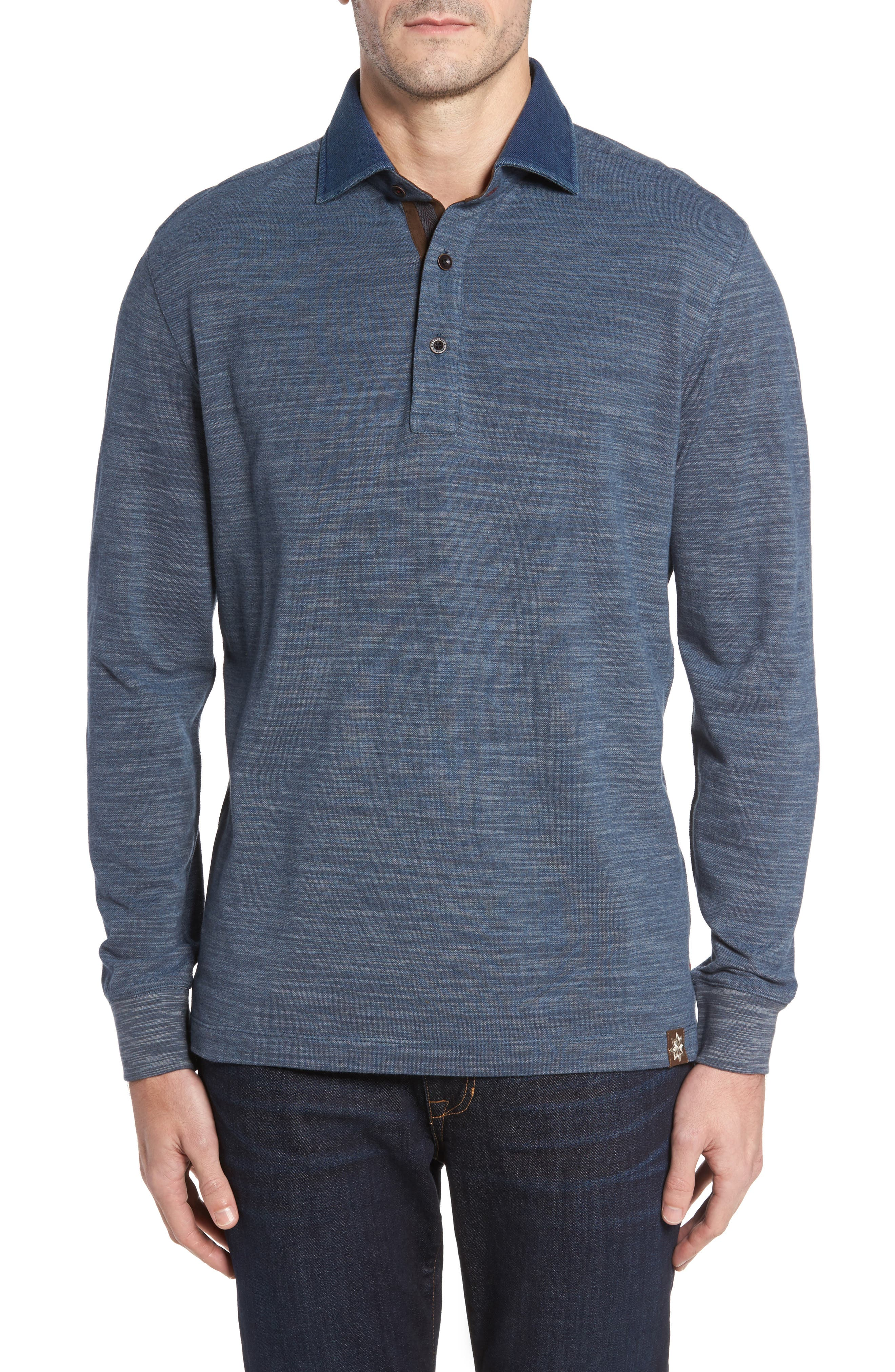 Patton Space Dyed Long Sleeve Polo,                             Main thumbnail 2, color,
