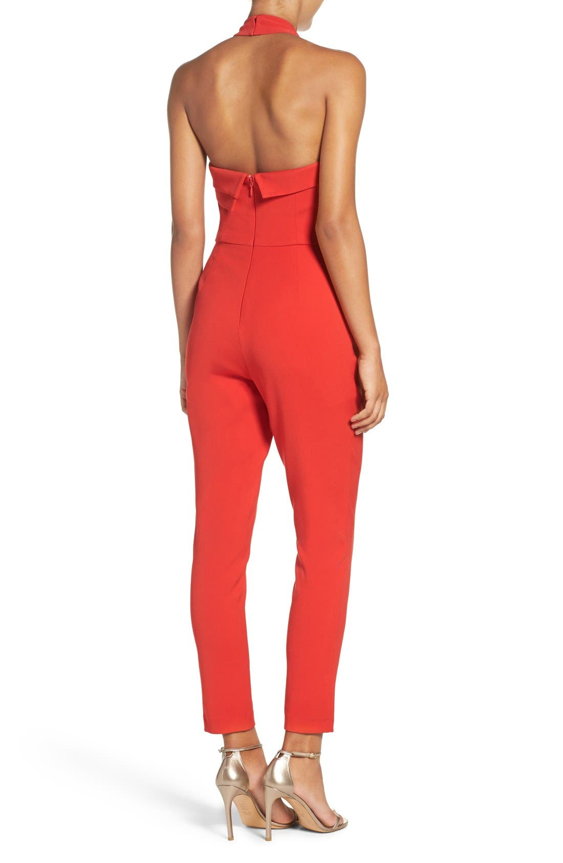 Halter Jumpsuit,                             Alternate thumbnail 8, color,