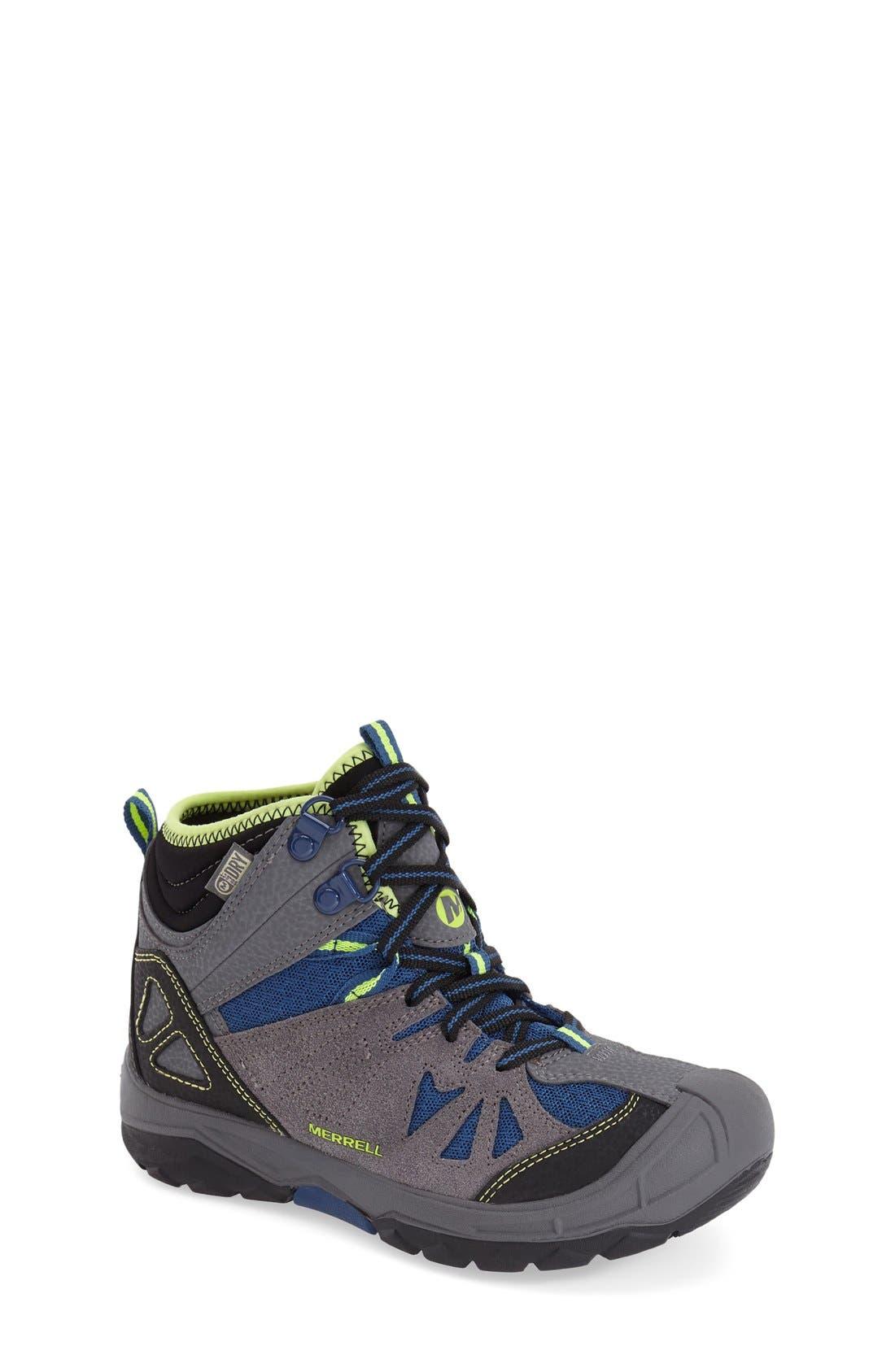 'Capra' Mid High Waterproof Boot, Main, color, 020