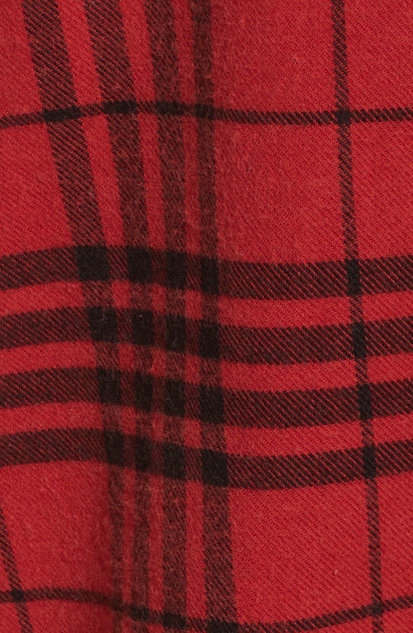 Plaid Cotton Blend Nightshirt,                             Alternate thumbnail 44, color,