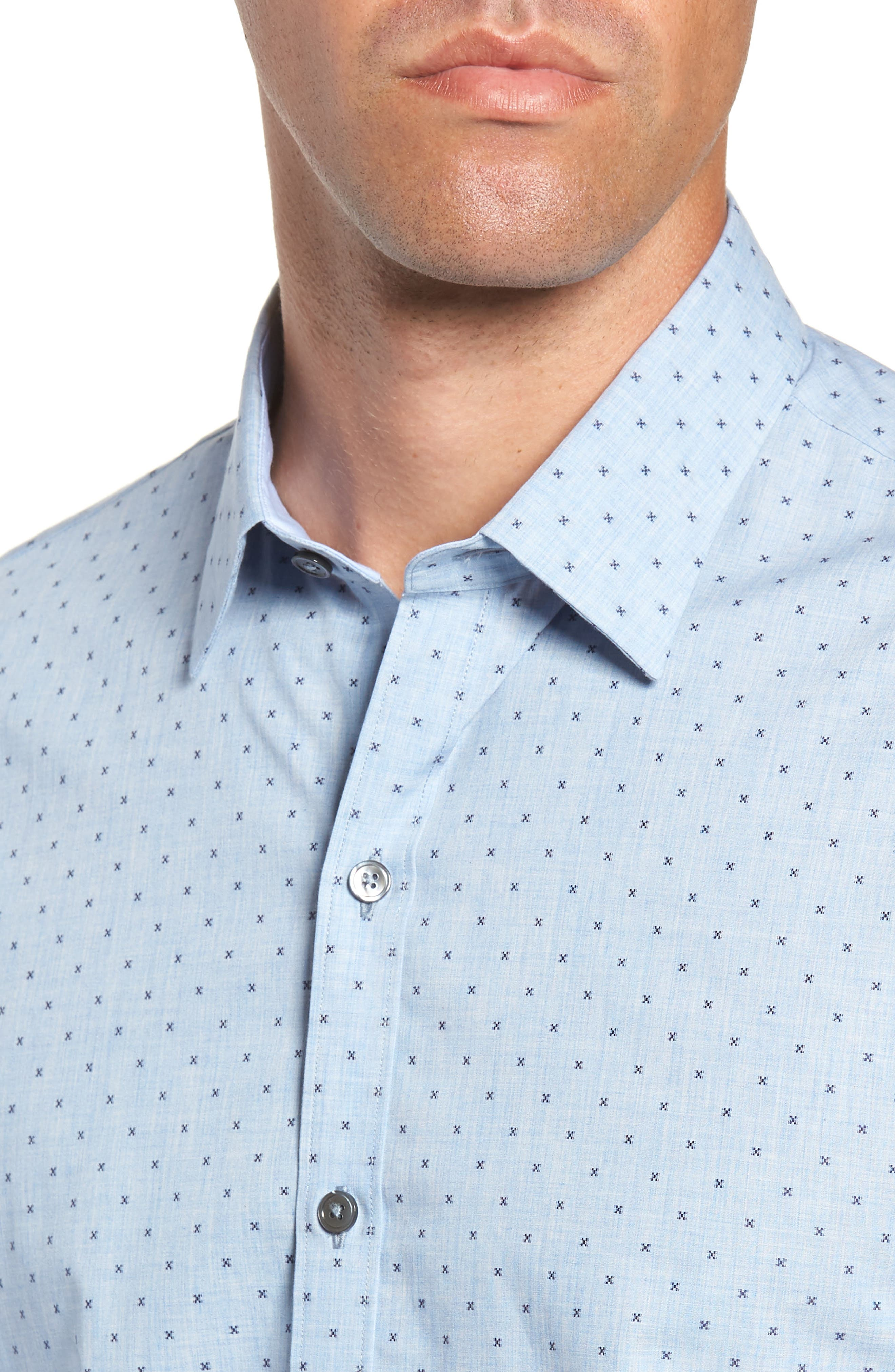 ZACHARY PRELL,                             Zhang Regular Fit Sport Shirt,                             Alternate thumbnail 2, color,                             LIGHT BLUE
