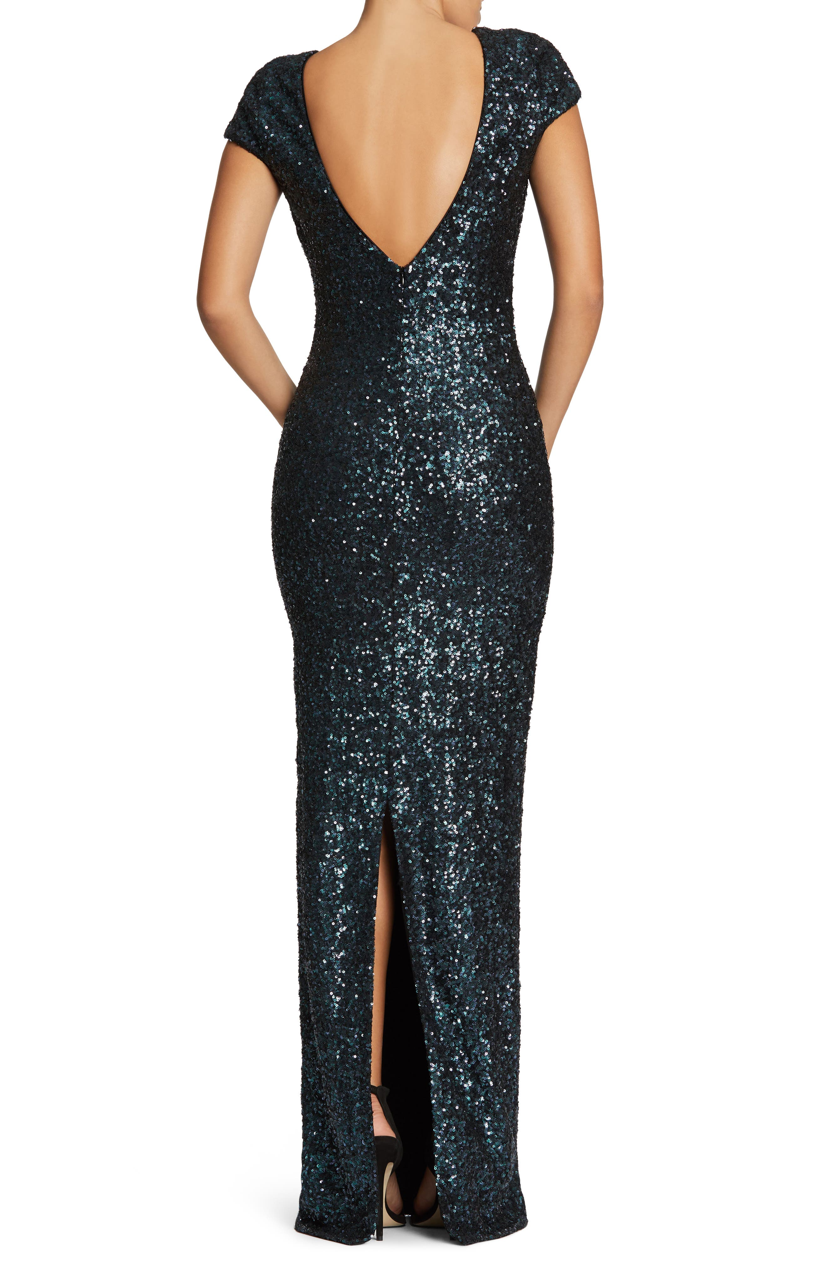 Teresa Body-Con Gown,                             Alternate thumbnail 10, color,