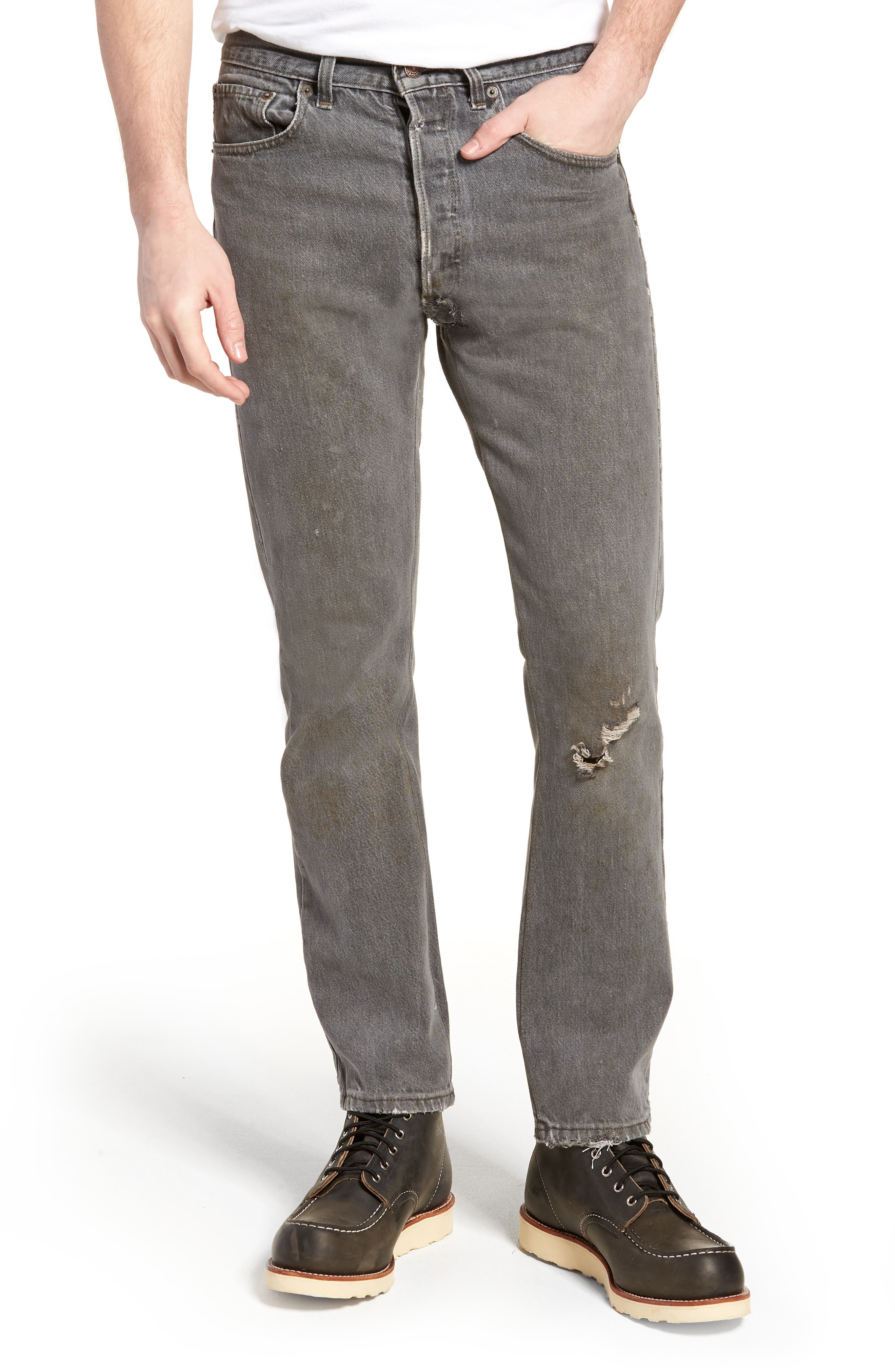 Authorized Vintage 501<sup>™</sup> Tapered Slim Fit Jeans,                         Main,                         color, AV BLACK