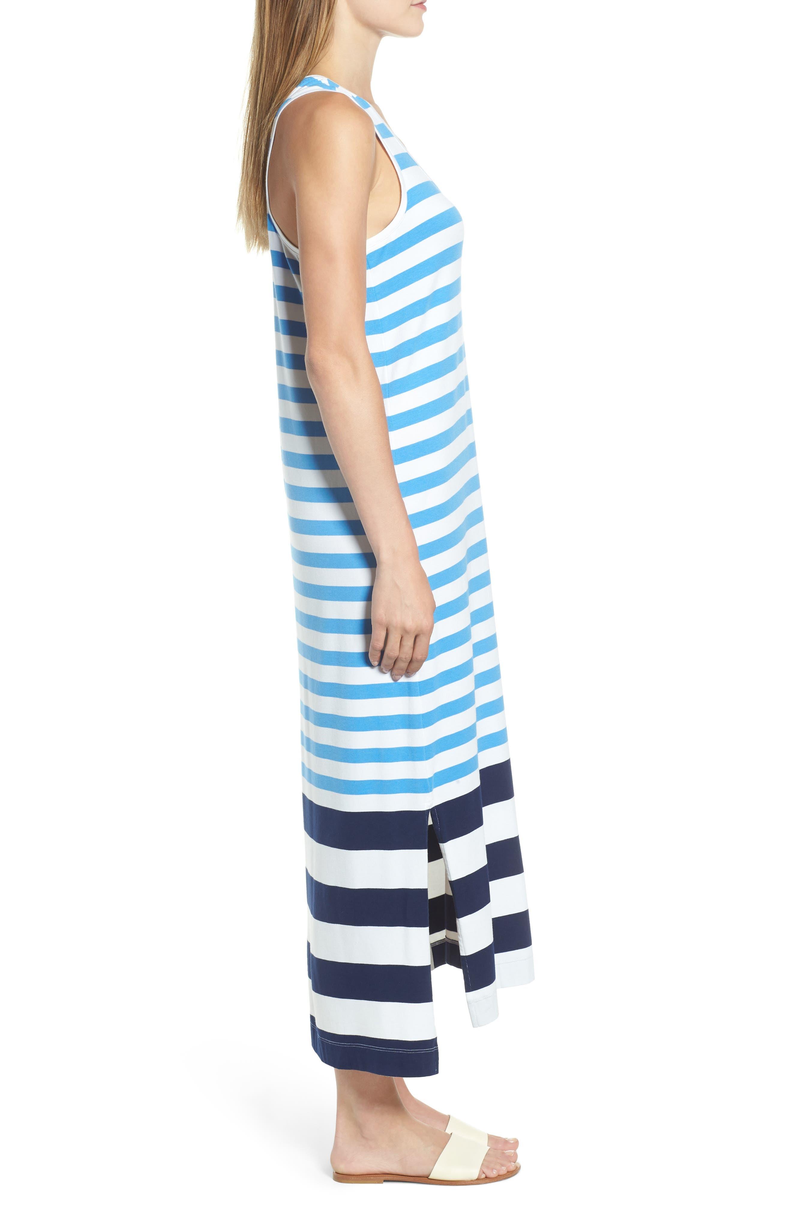 Striped Maxi Tank Dress,                             Alternate thumbnail 3, color,