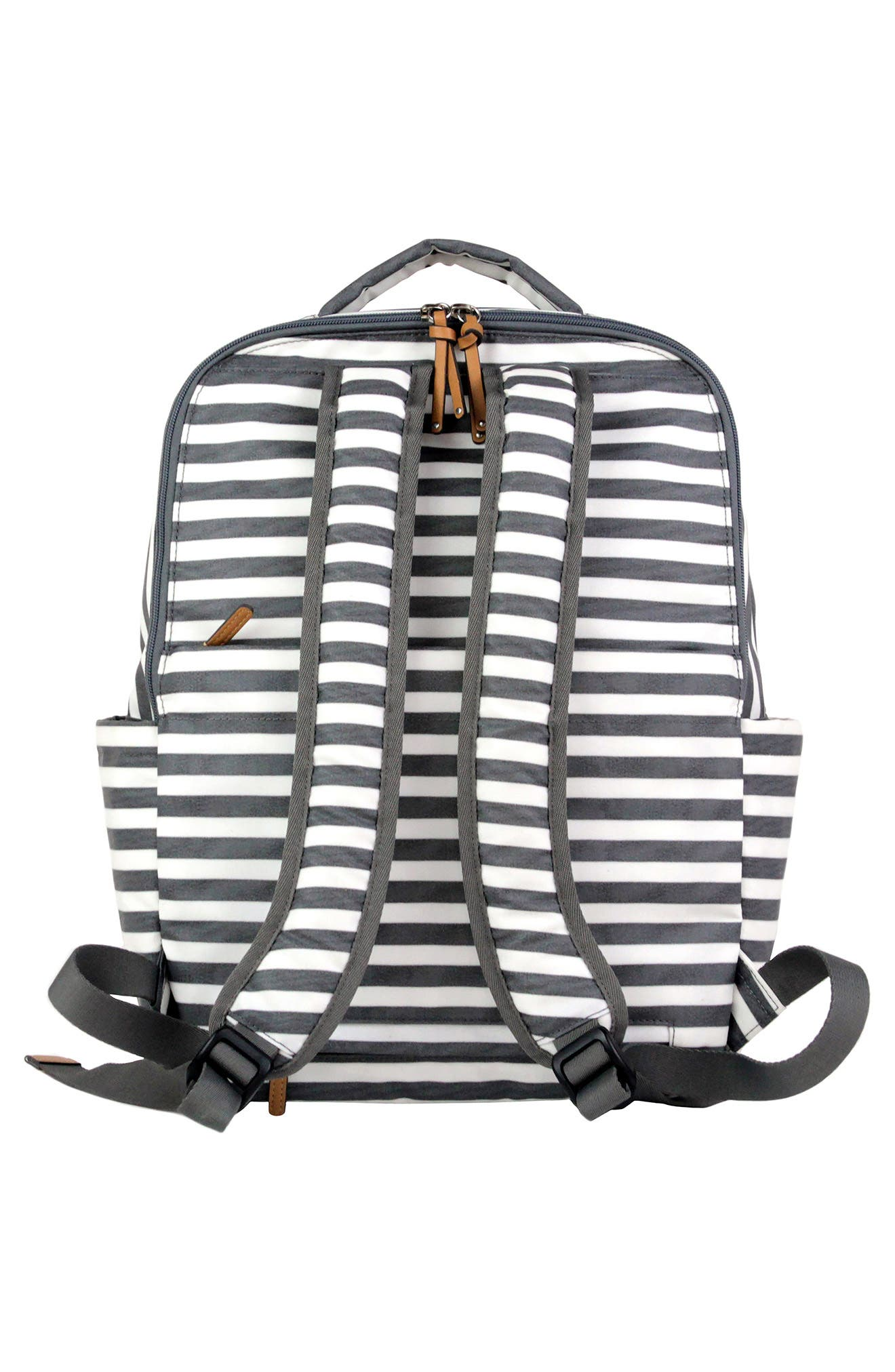 On-the-Go Water Resistant Diaper Backpack,                             Alternate thumbnail 2, color,                             STRIPE