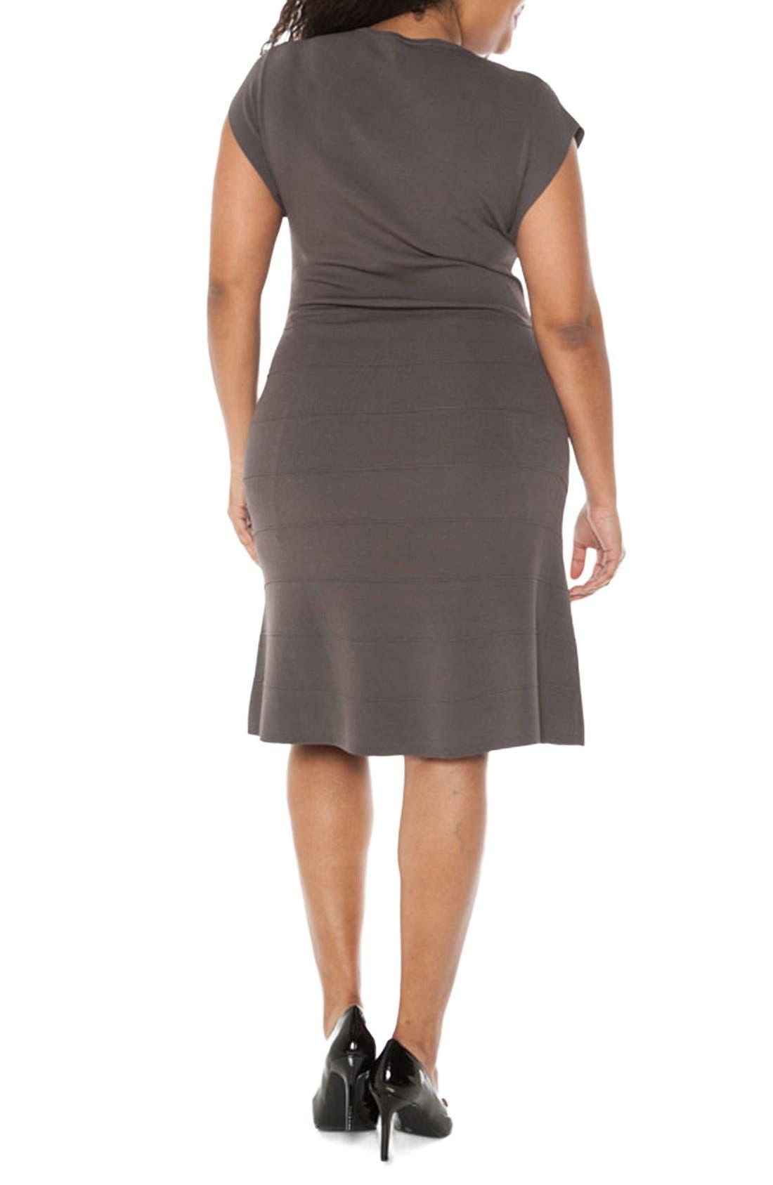 Cap Sleeve Knit A-Line Dress,                             Alternate thumbnail 8, color,