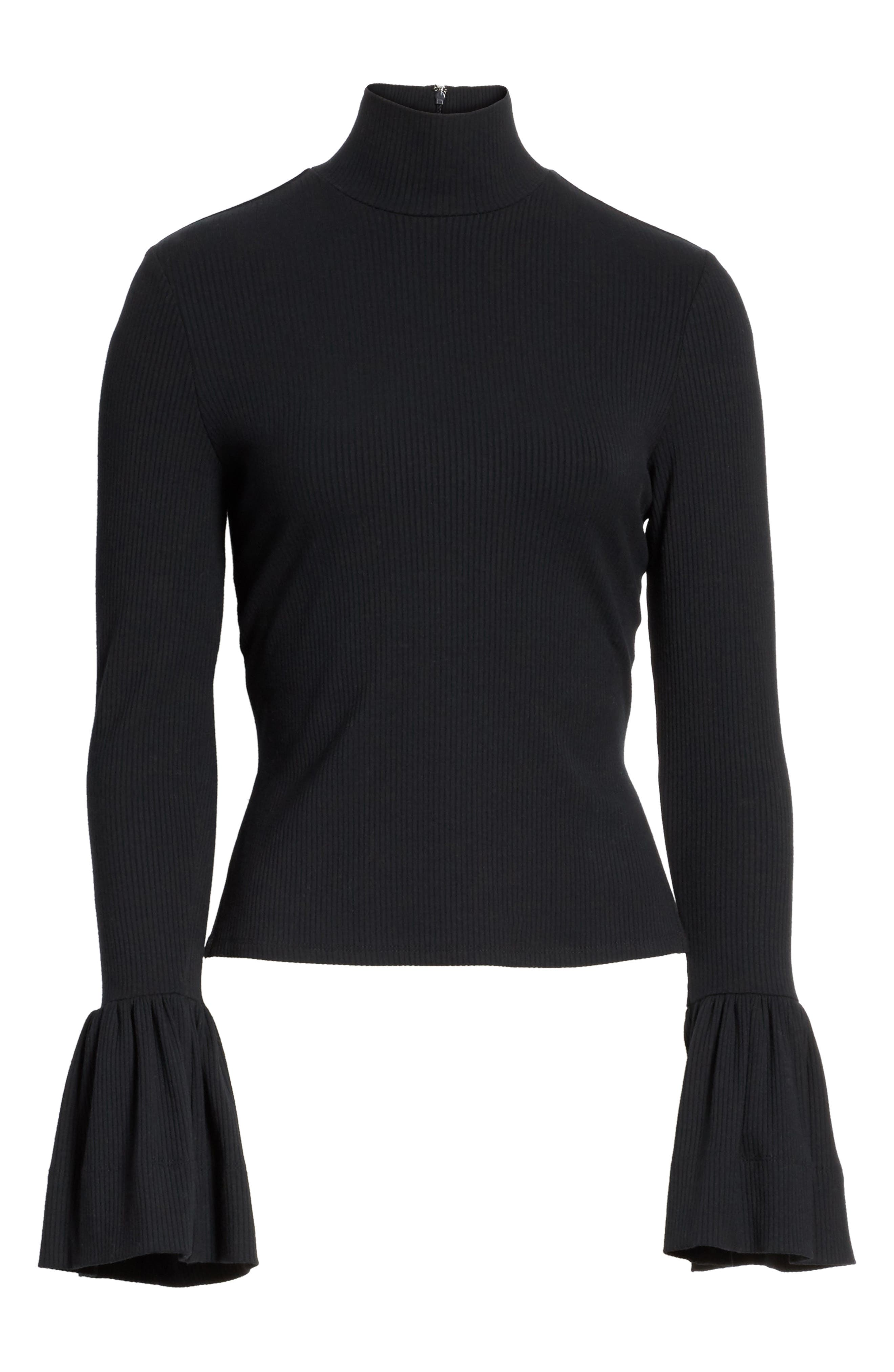May Bell Sleeve Turtleneck,                             Alternate thumbnail 6, color,
