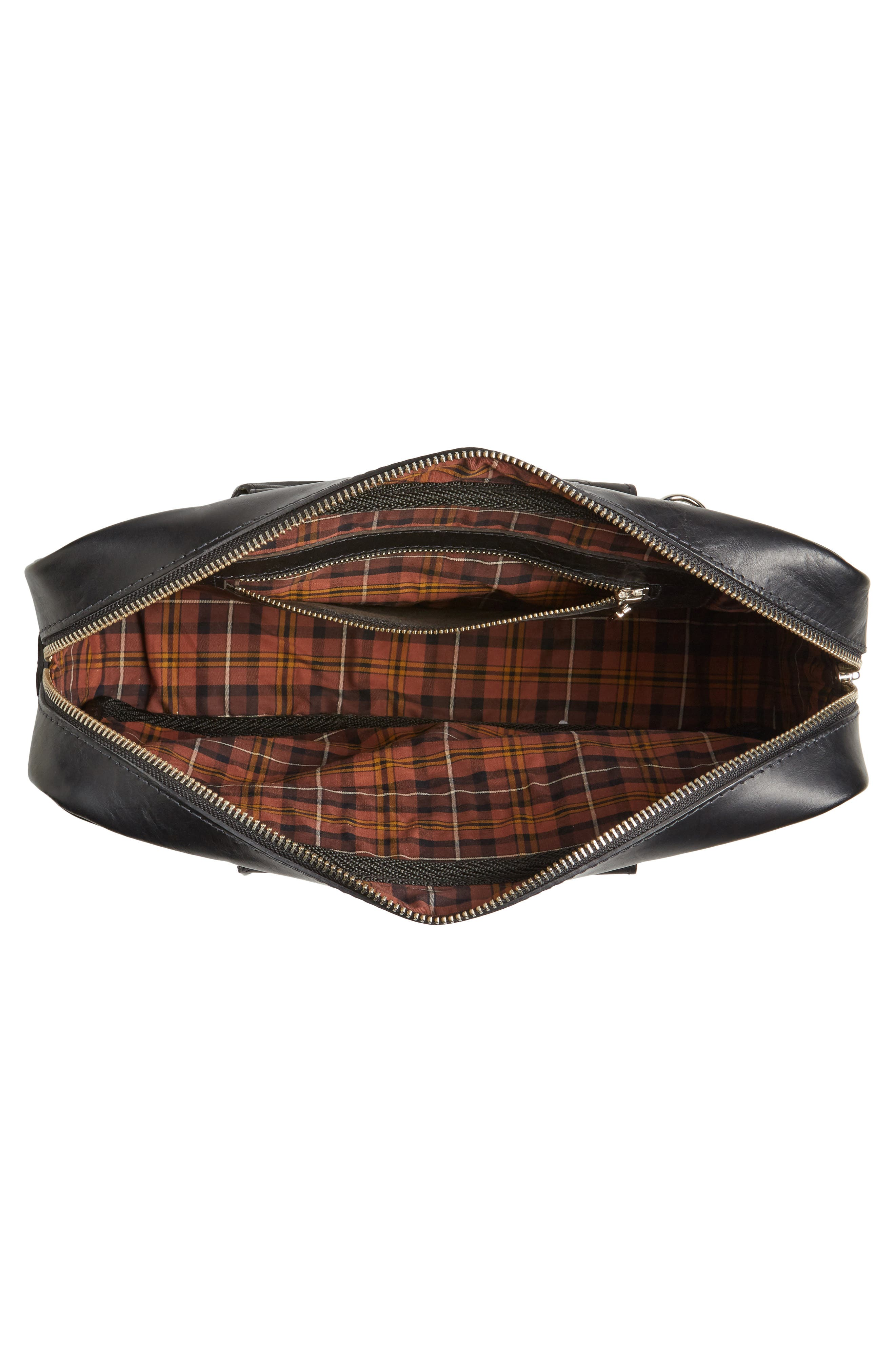 New Roxburgh Leather Briefcase,                             Alternate thumbnail 4, color,                             NERO