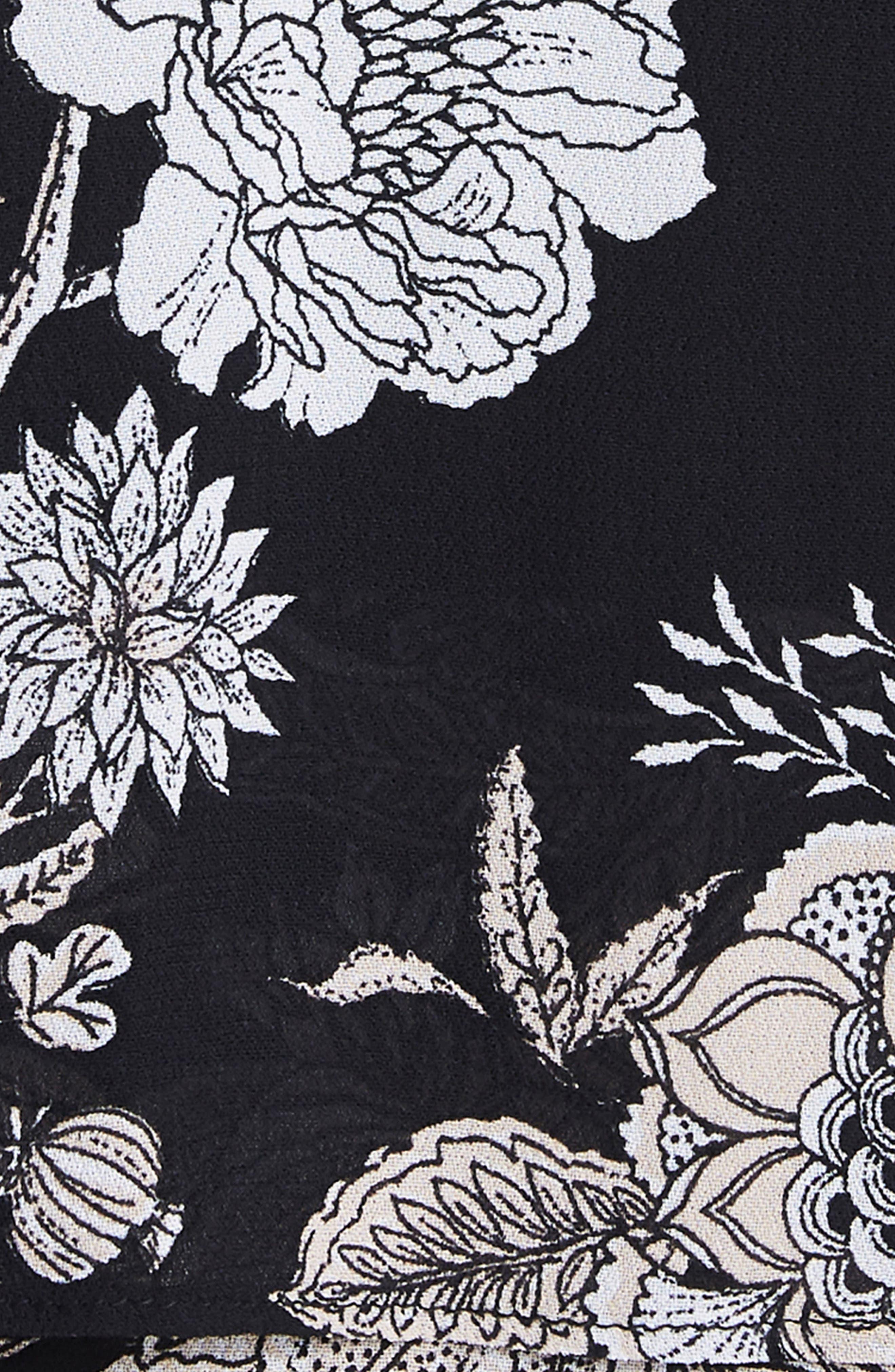 Amabella Tiered Maxi Dress,                             Alternate thumbnail 4, color,                             001