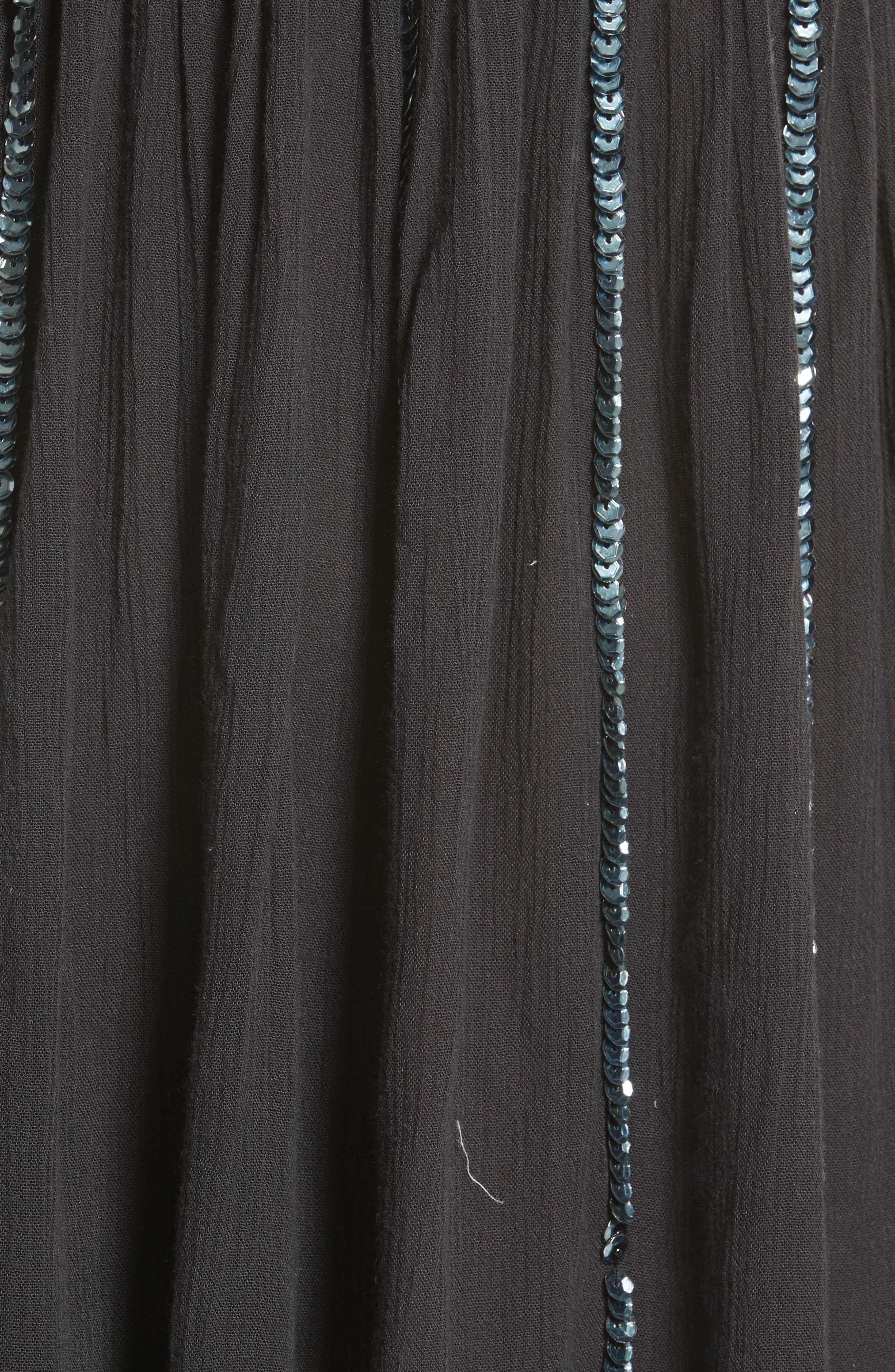 Glitter Girl Minidress,                             Alternate thumbnail 6, color,                             001