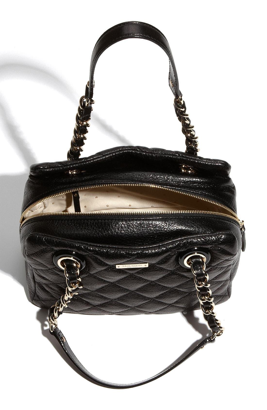 'gold coast - elizabeth' quilted leather shoulder bag,                             Alternate thumbnail 2, color,                             001