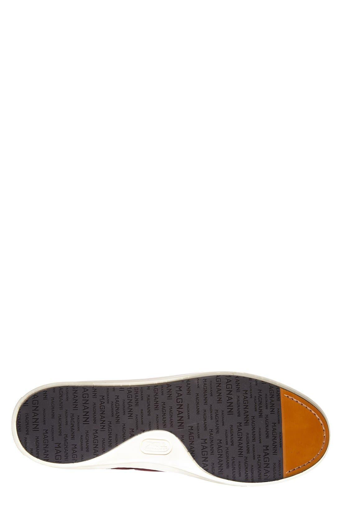Brando High Top Sneaker,                             Alternate thumbnail 3, color,                             RED