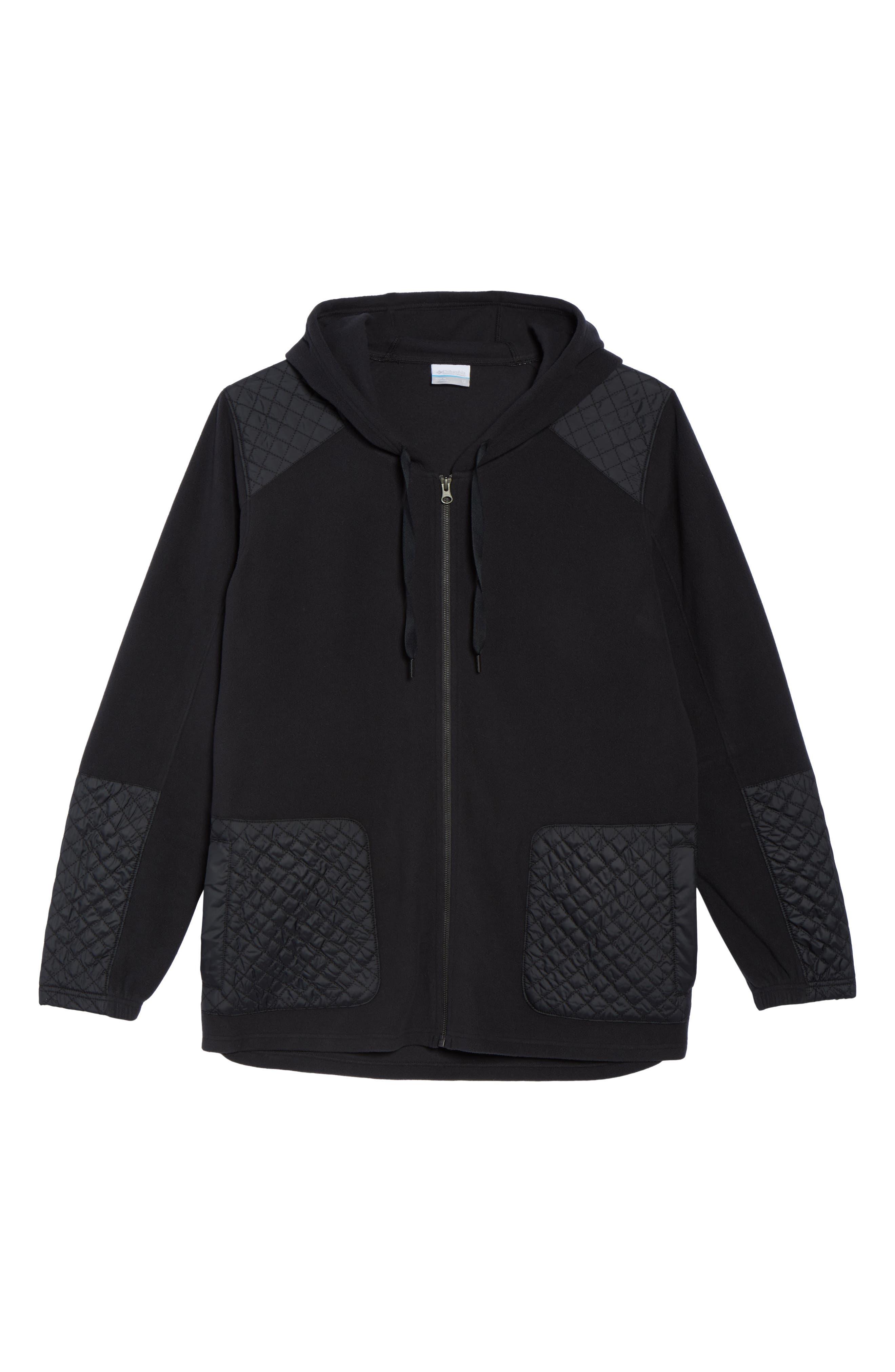 Warm Up Hooded Fleece Jacket,                             Alternate thumbnail 5, color,                             010