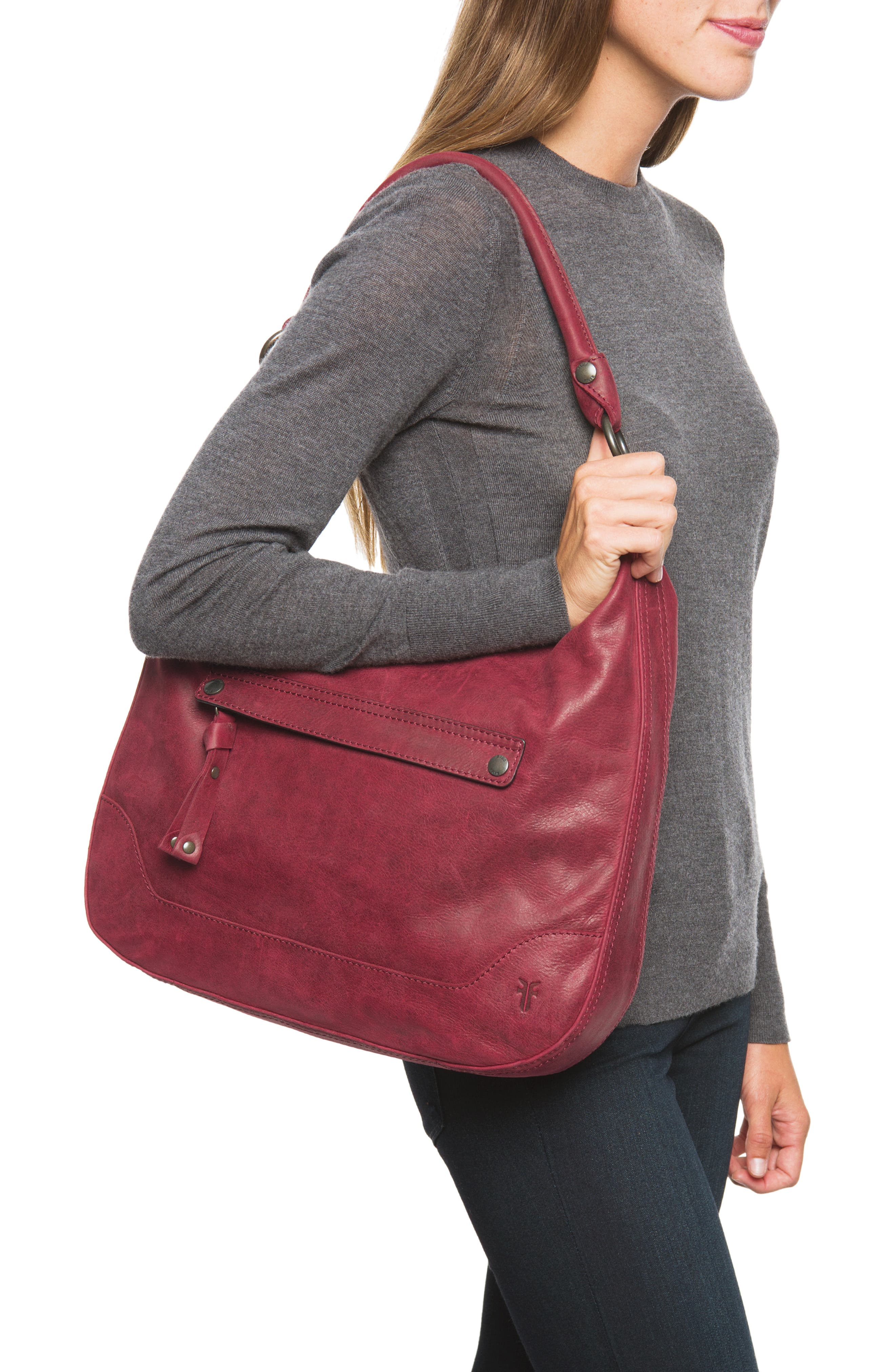 Melissa Large Leather Hobo,                             Alternate thumbnail 2, color,                             604