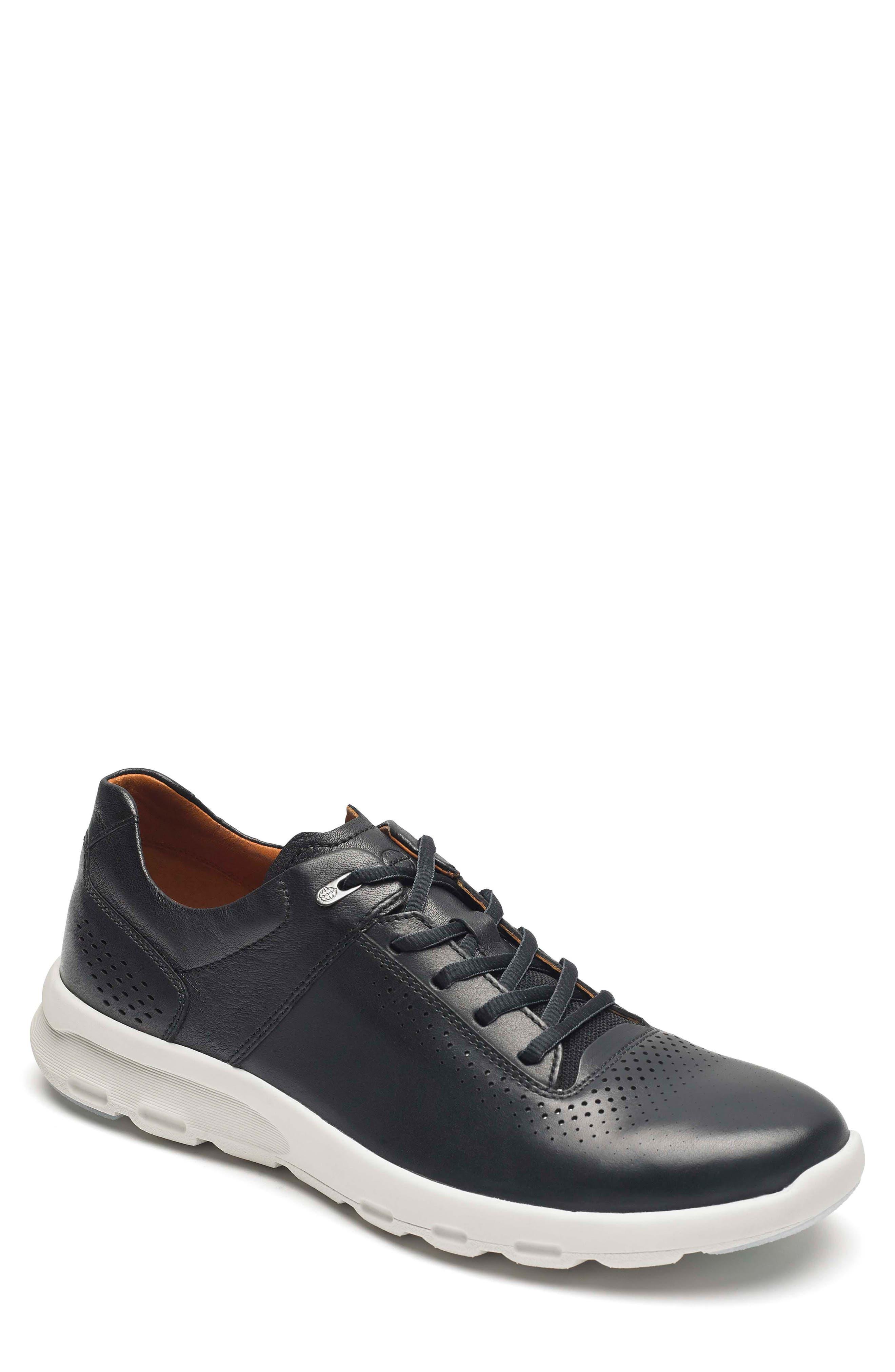 Let's Walk<sup>®</sup> Sneaker,                             Main thumbnail 1, color,                             BLACK LEATHER