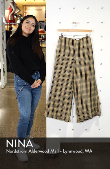 Carmen Plaid Crop Flare Pants, sales video thumbnail