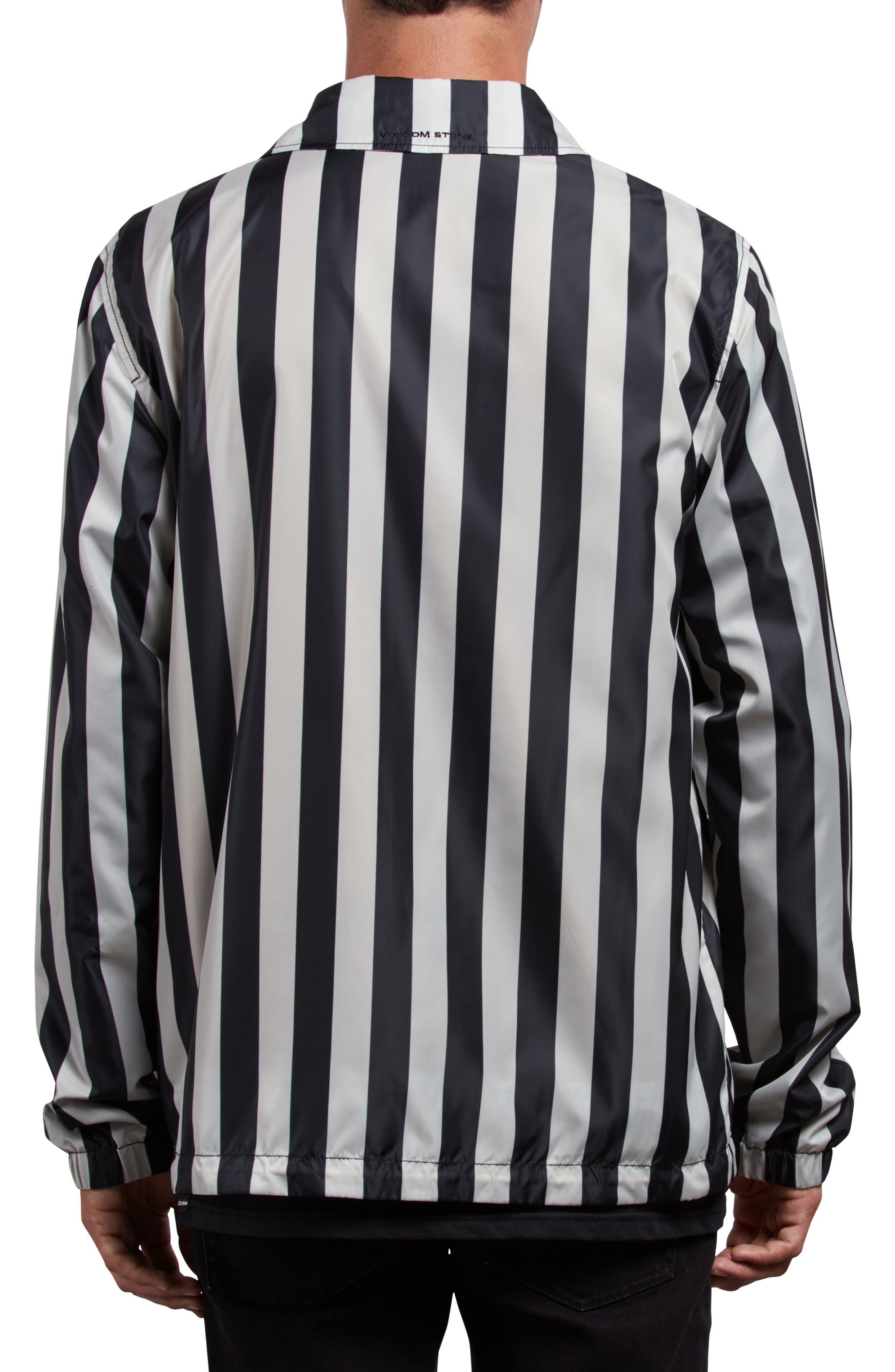 Brews Coach's Jacket,                             Alternate thumbnail 2, color,                             BLACK WHITE