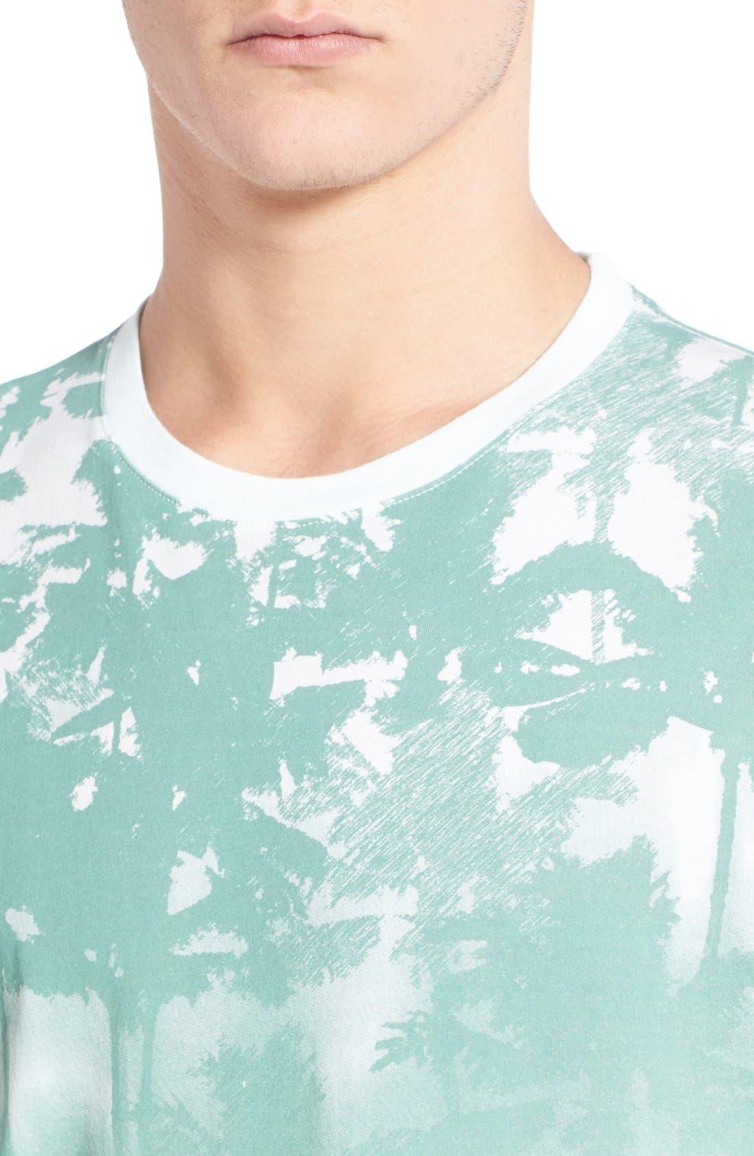 'Lost' Shadow Palm Print Crewneck T-Shirt,                             Alternate thumbnail 8, color,