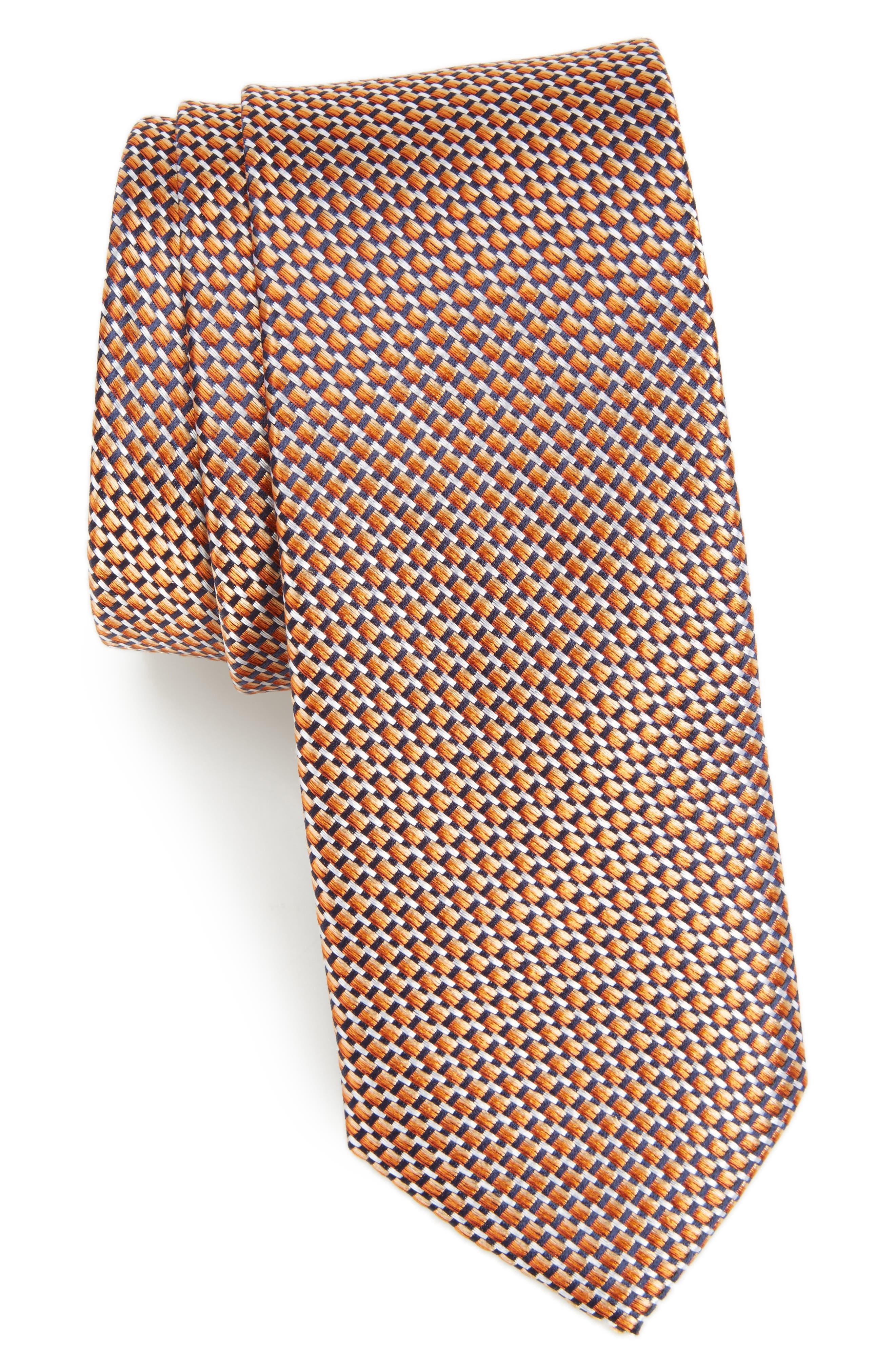 Iris Solid Silk Skinny Tie,                             Main thumbnail 6, color,