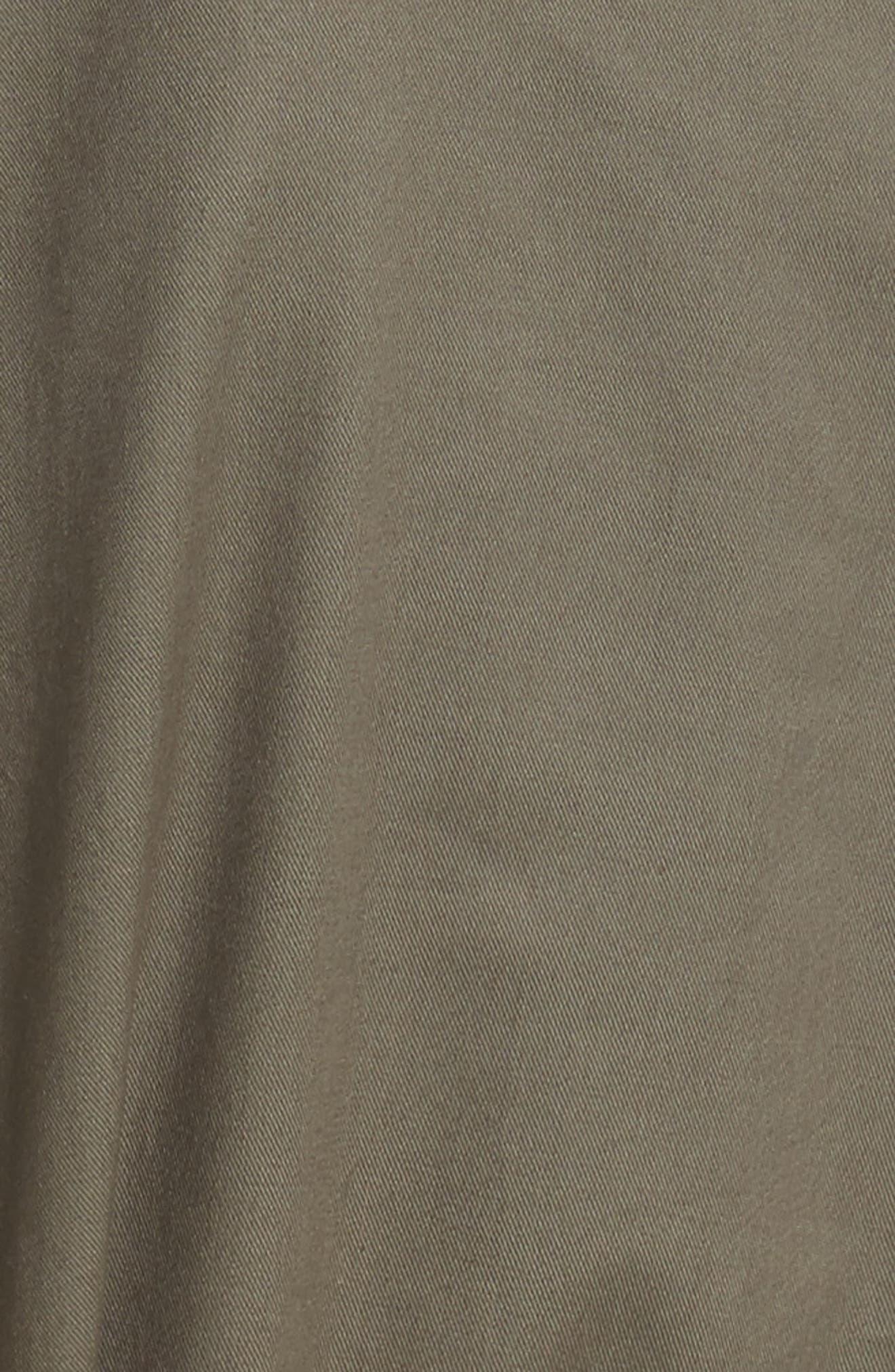 ruffle trim poplin shirtdress,                             Alternate thumbnail 5, color,                             301