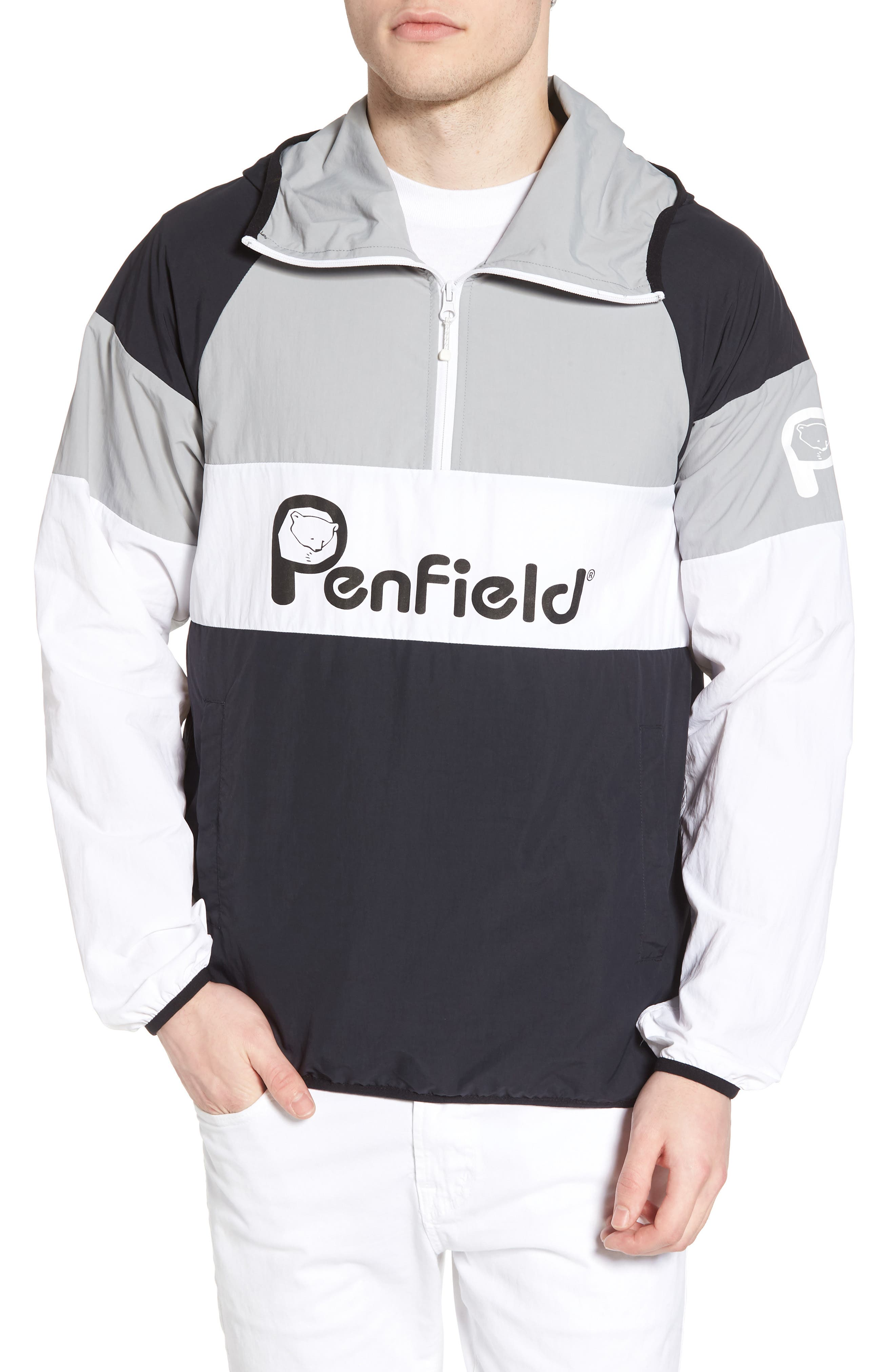 Block Pullover Jacket,                             Main thumbnail 1, color,                             001