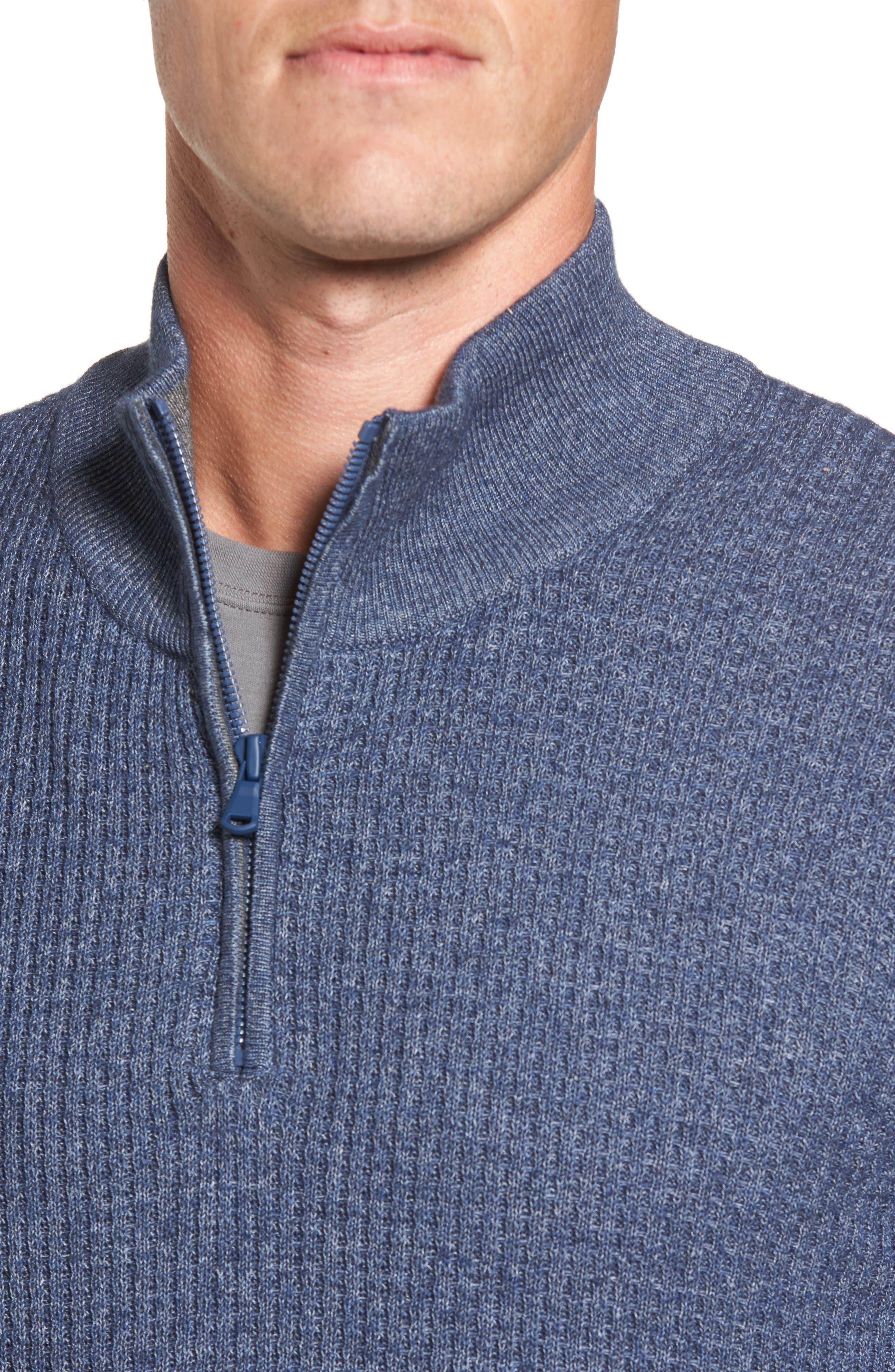 Higgins Quarter Zip Sweater,                             Alternate thumbnail 12, color,