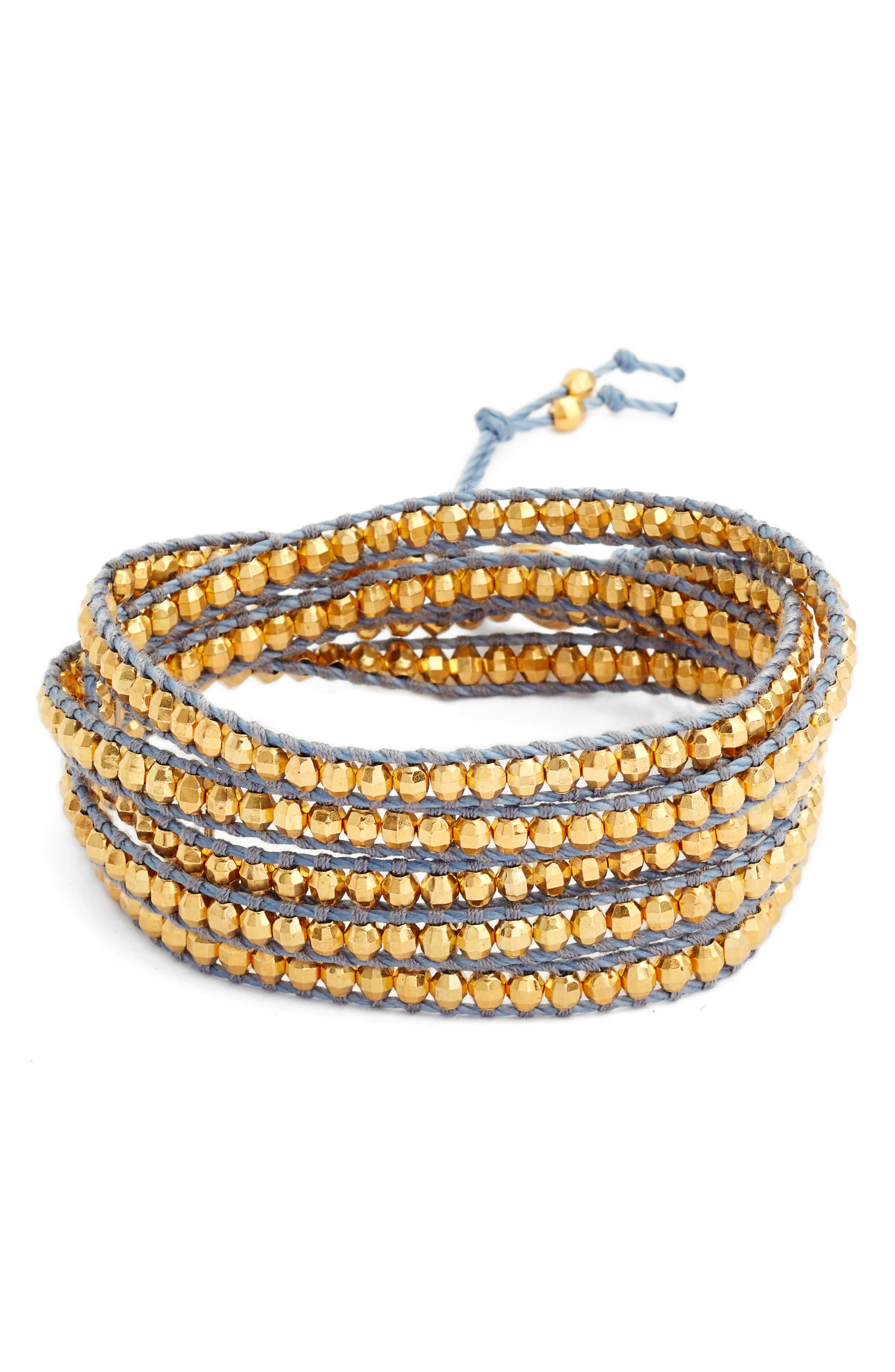 Vermeil Beaded Bracelet,                             Main thumbnail 1, color,                             020