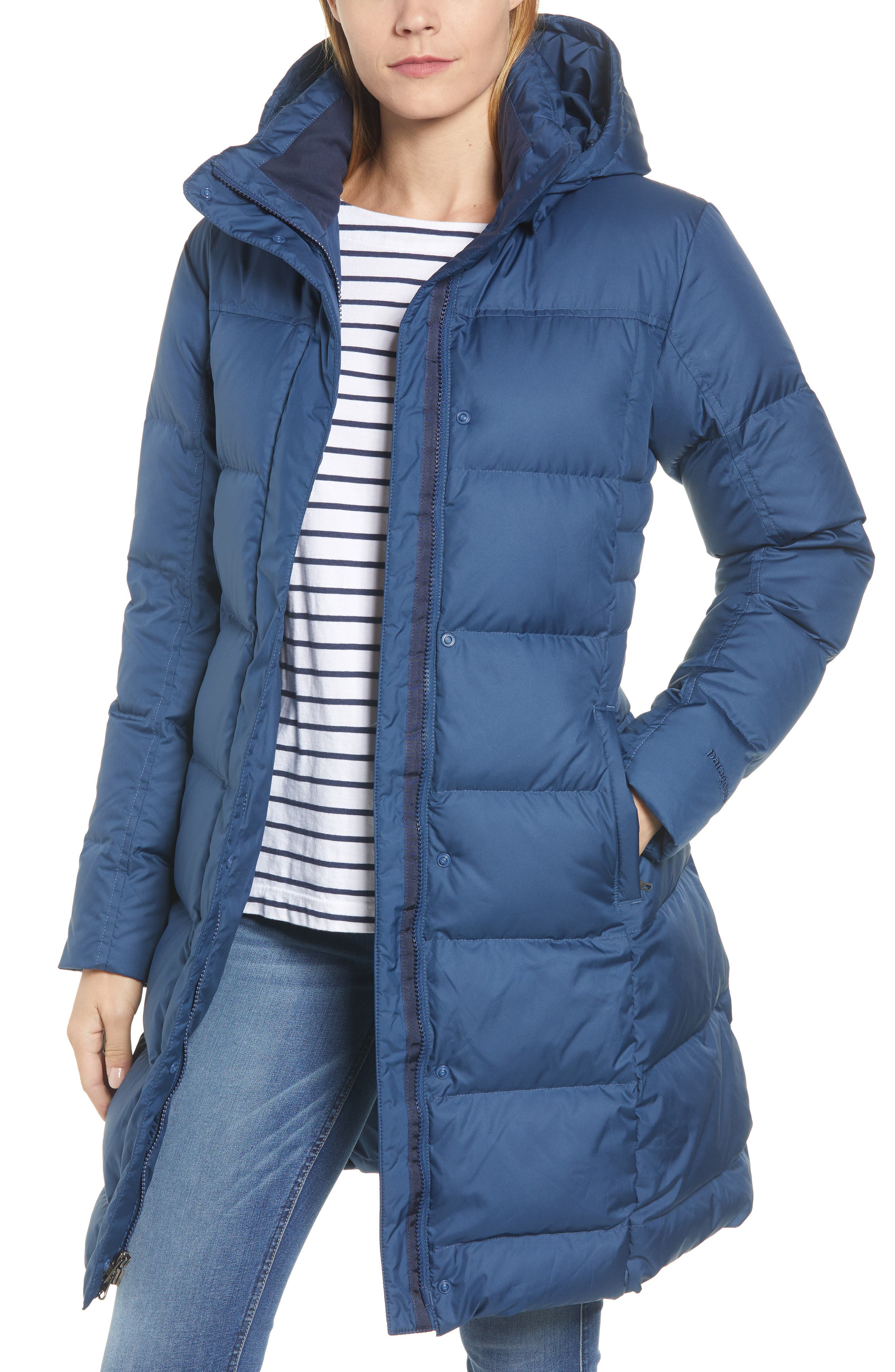 'Down with It' Water RepellentParka,                             Main thumbnail 1, color,                             401