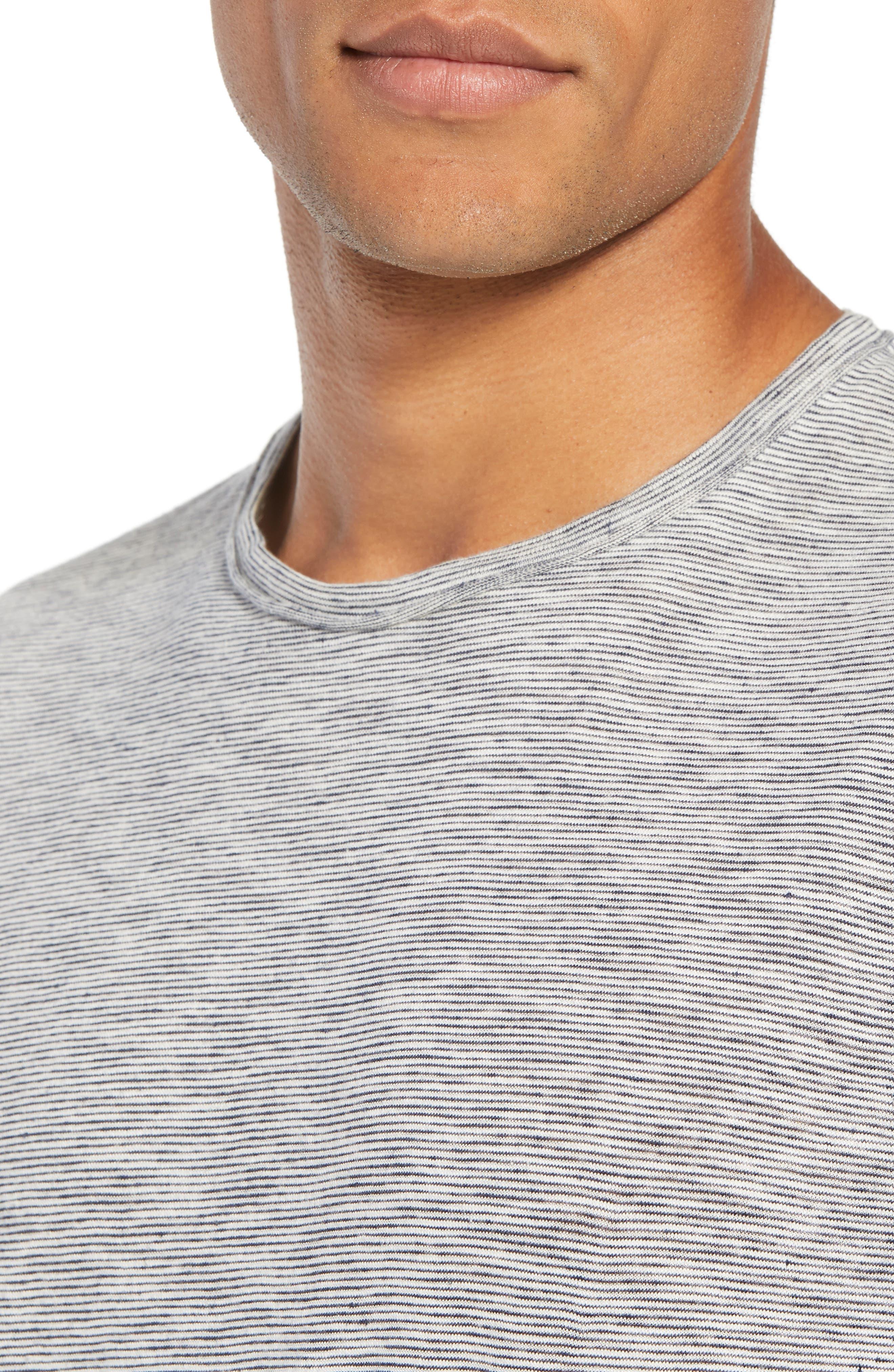 Owen T-Shirt,                             Alternate thumbnail 4, color,                             NAVY/ WHITE