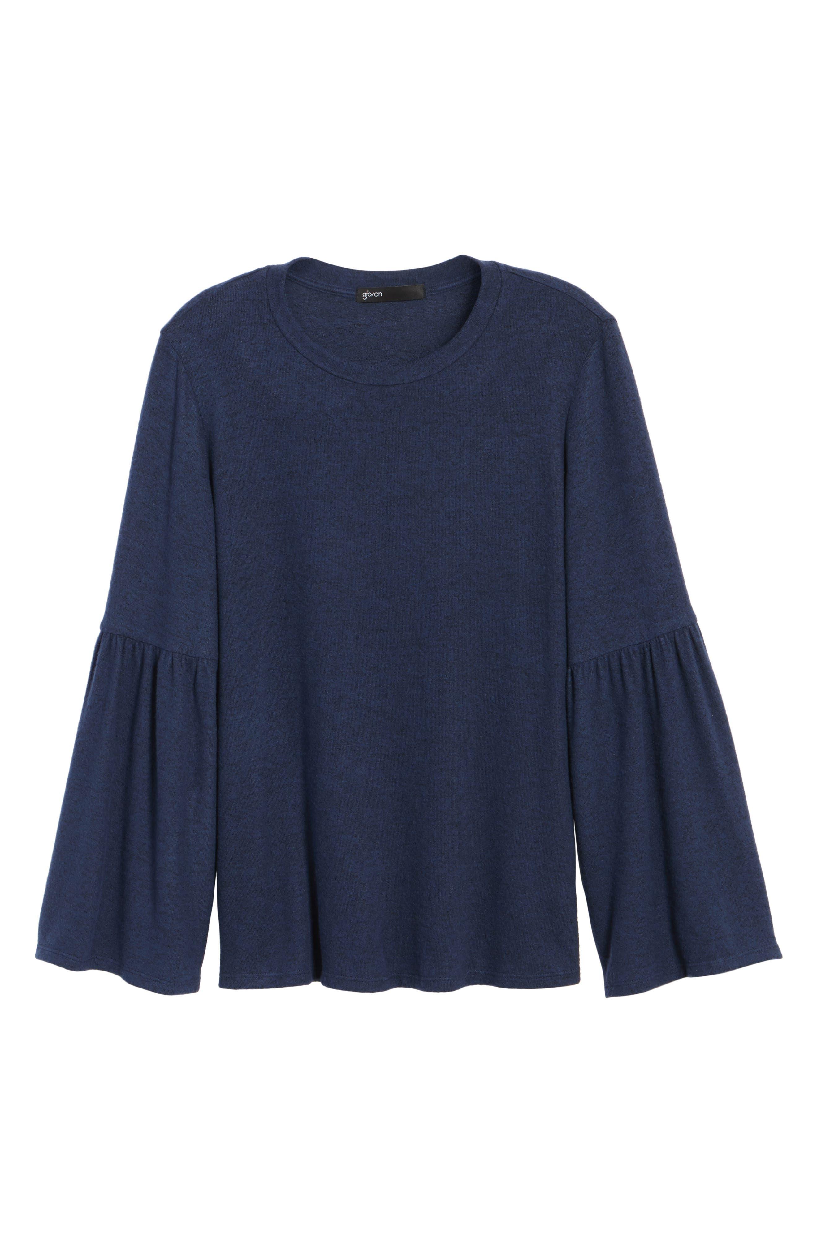 Bell Sleeve Cozy Fleece Pullover,                             Alternate thumbnail 69, color,