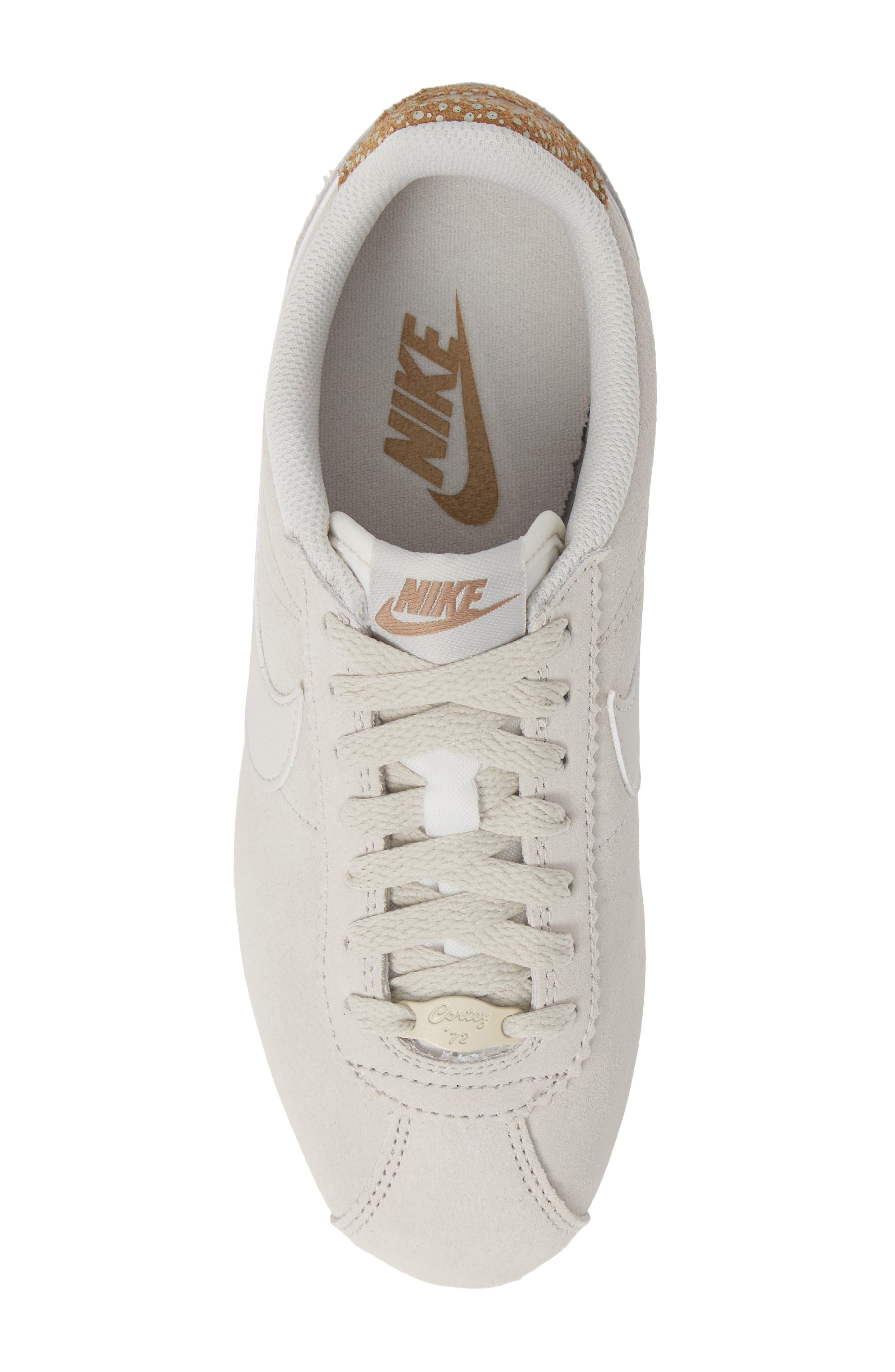 Classic Cortez Premium Sneaker,                             Alternate thumbnail 5, color,                             LIGHT BONE/ CANTEEN
