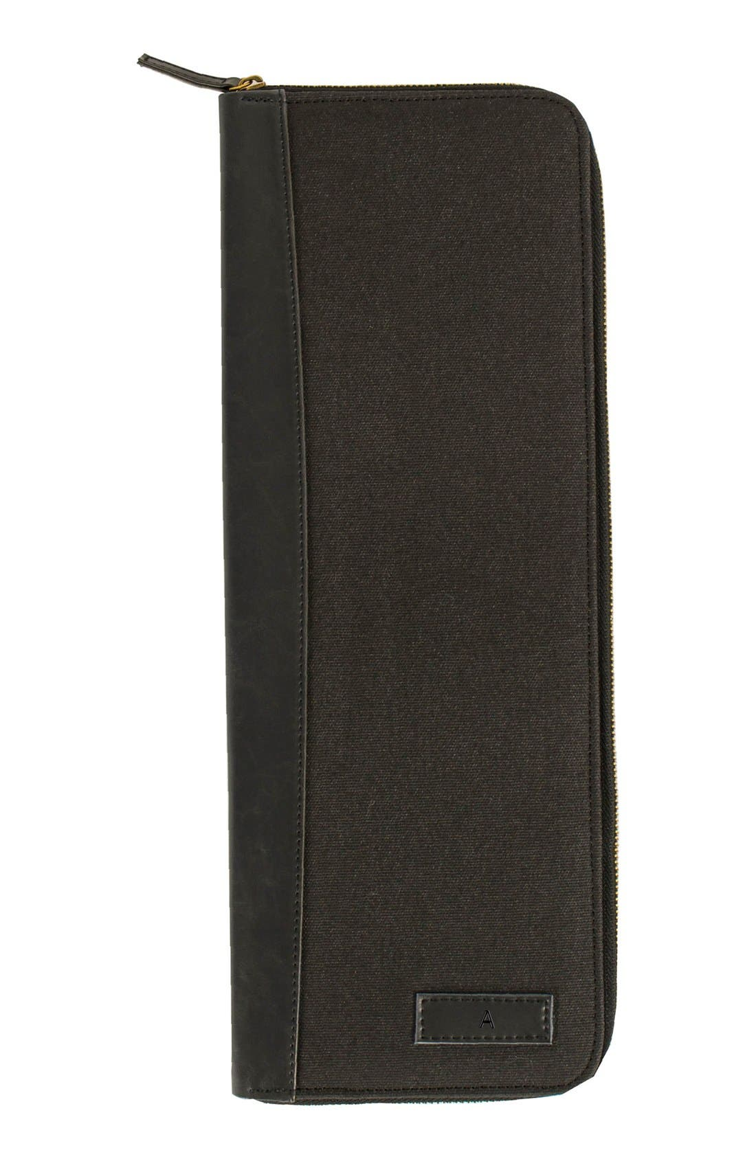 Monogram Tie Case,                         Main,                         color, BLACK-A