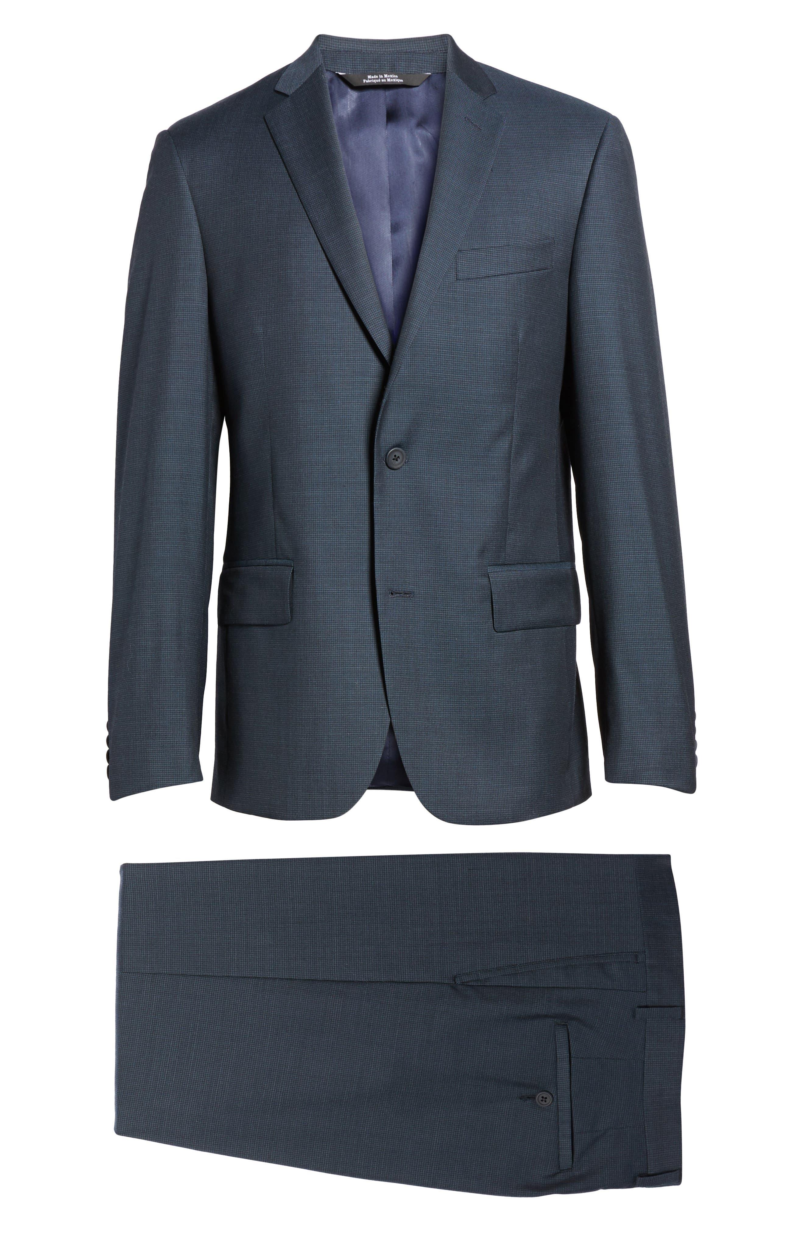 Classic Fit Check Wool Suit,                             Alternate thumbnail 32, color,