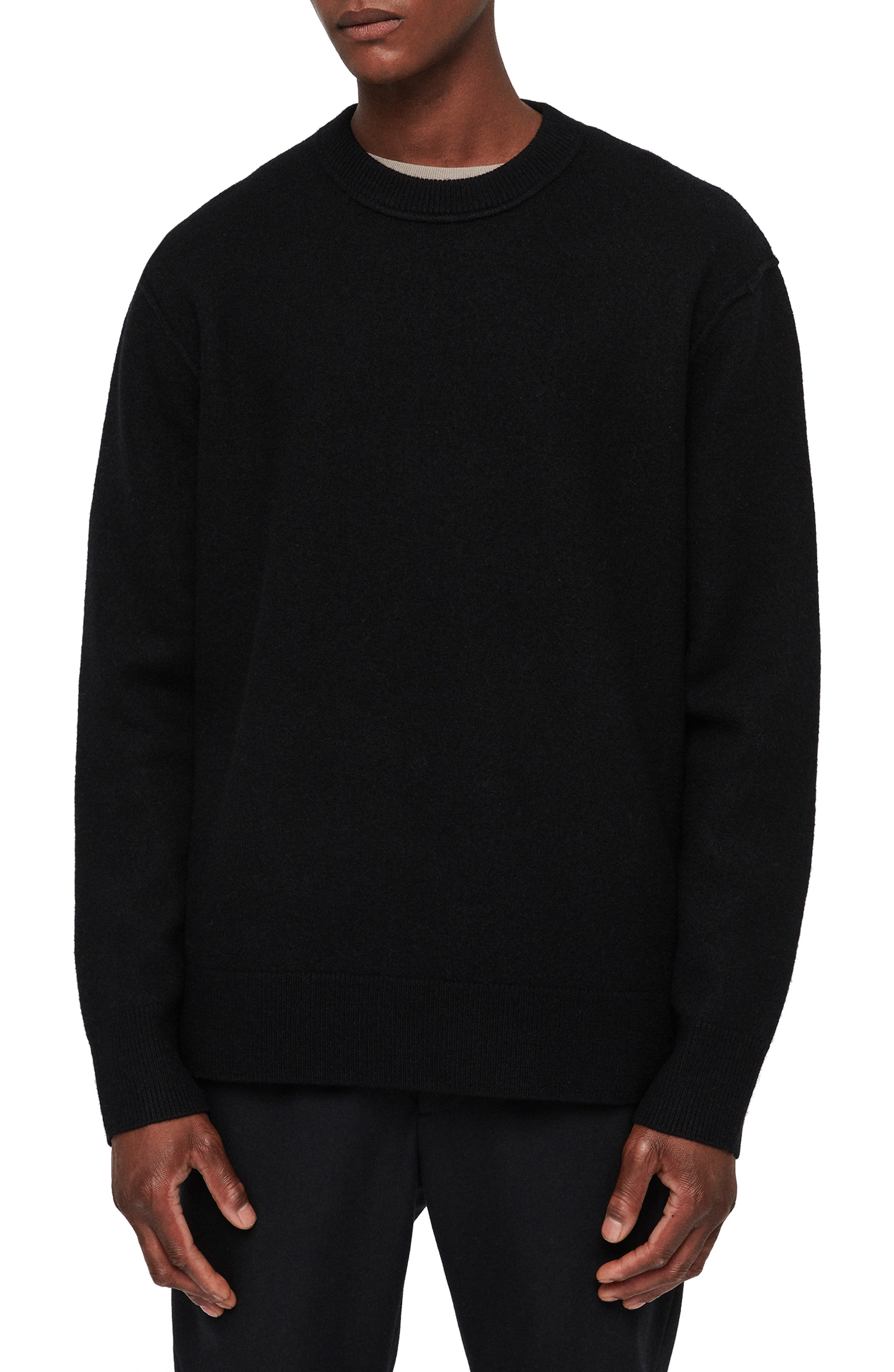 Maine Regular Fit Wool Sweater,                         Main,                         color, BLACK