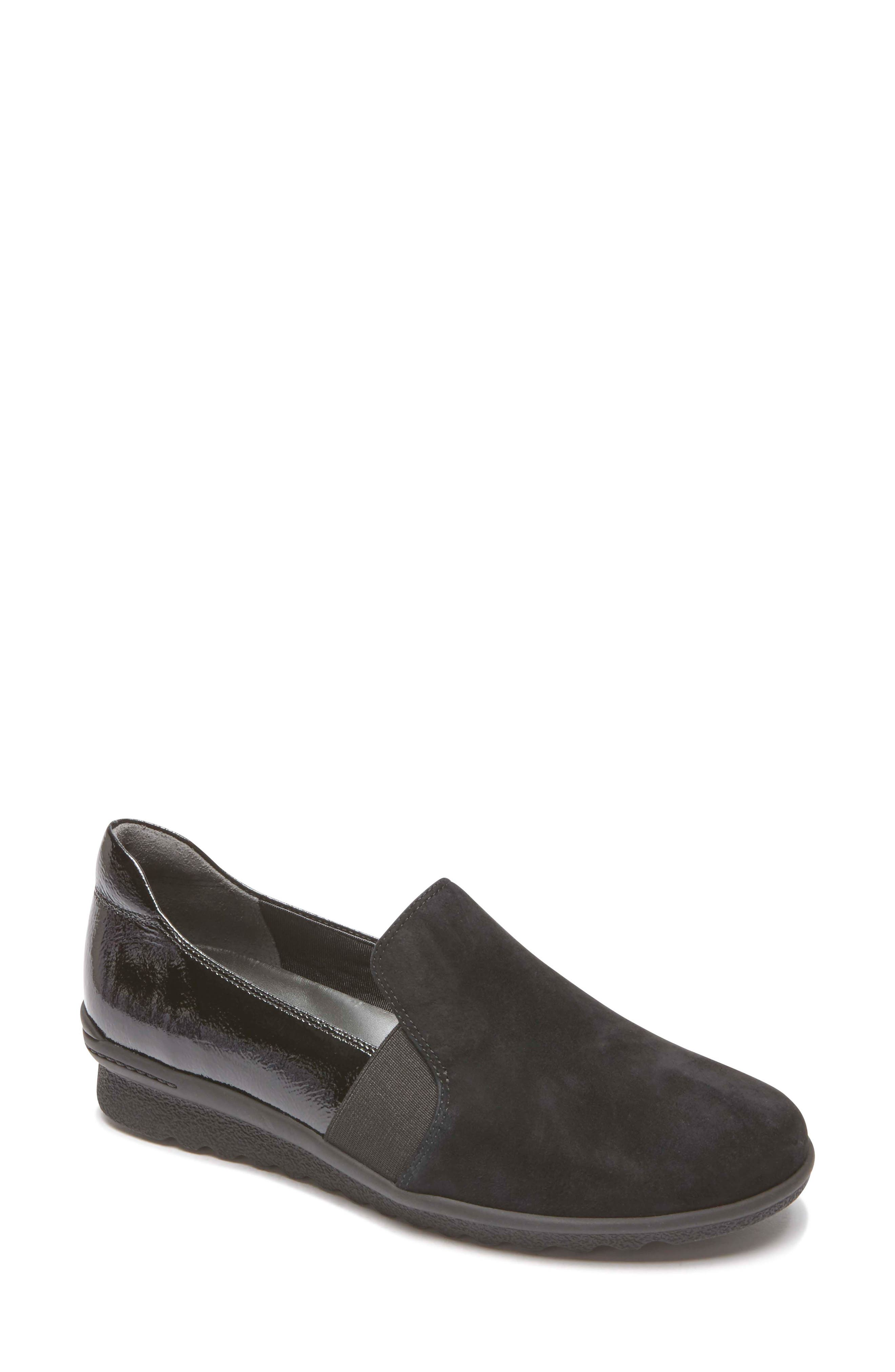 Chenole Loafer,                             Main thumbnail 1, color,                             BLACK SUEDE