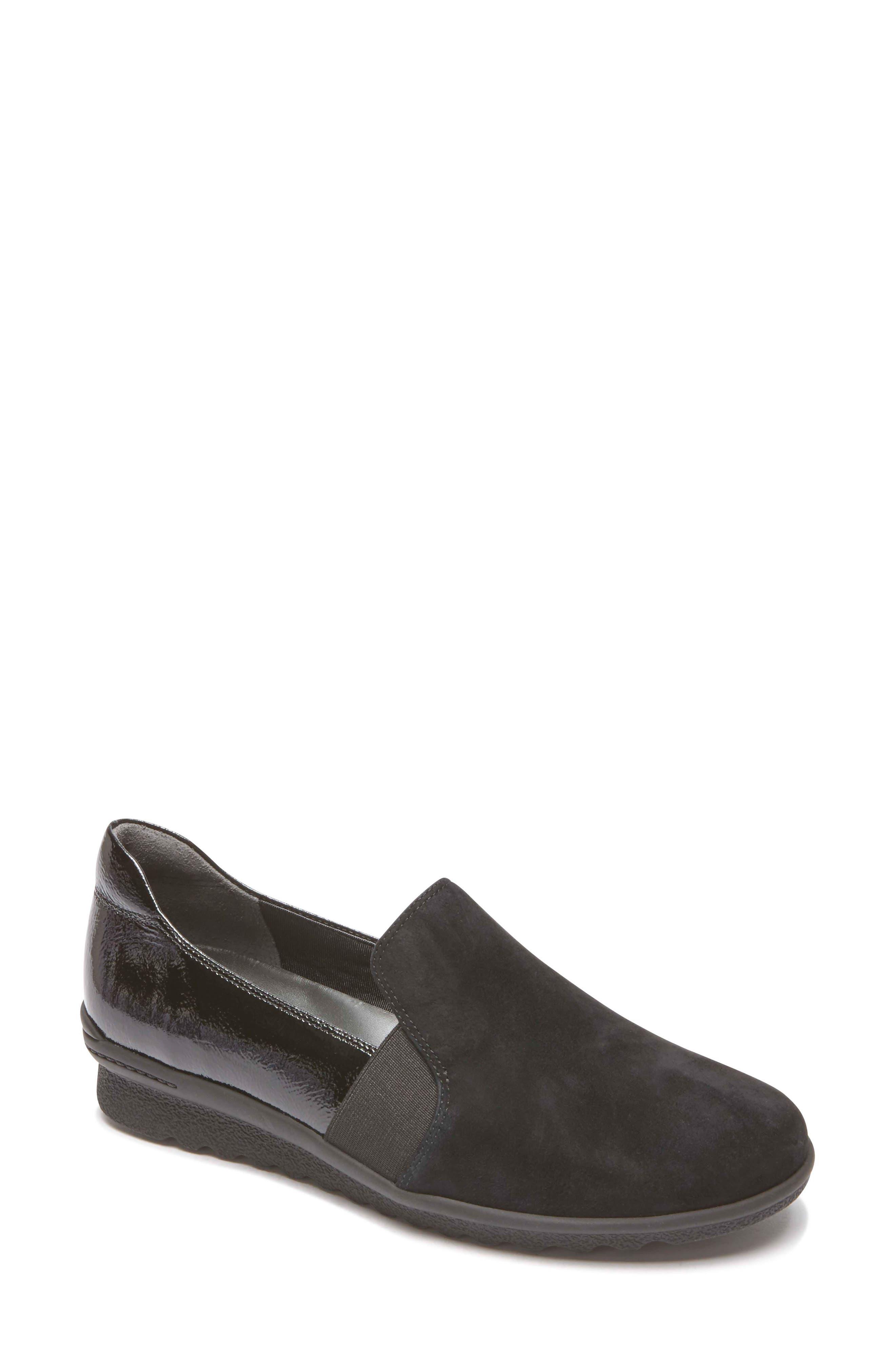Chenole Loafer,                         Main,                         color, BLACK SUEDE