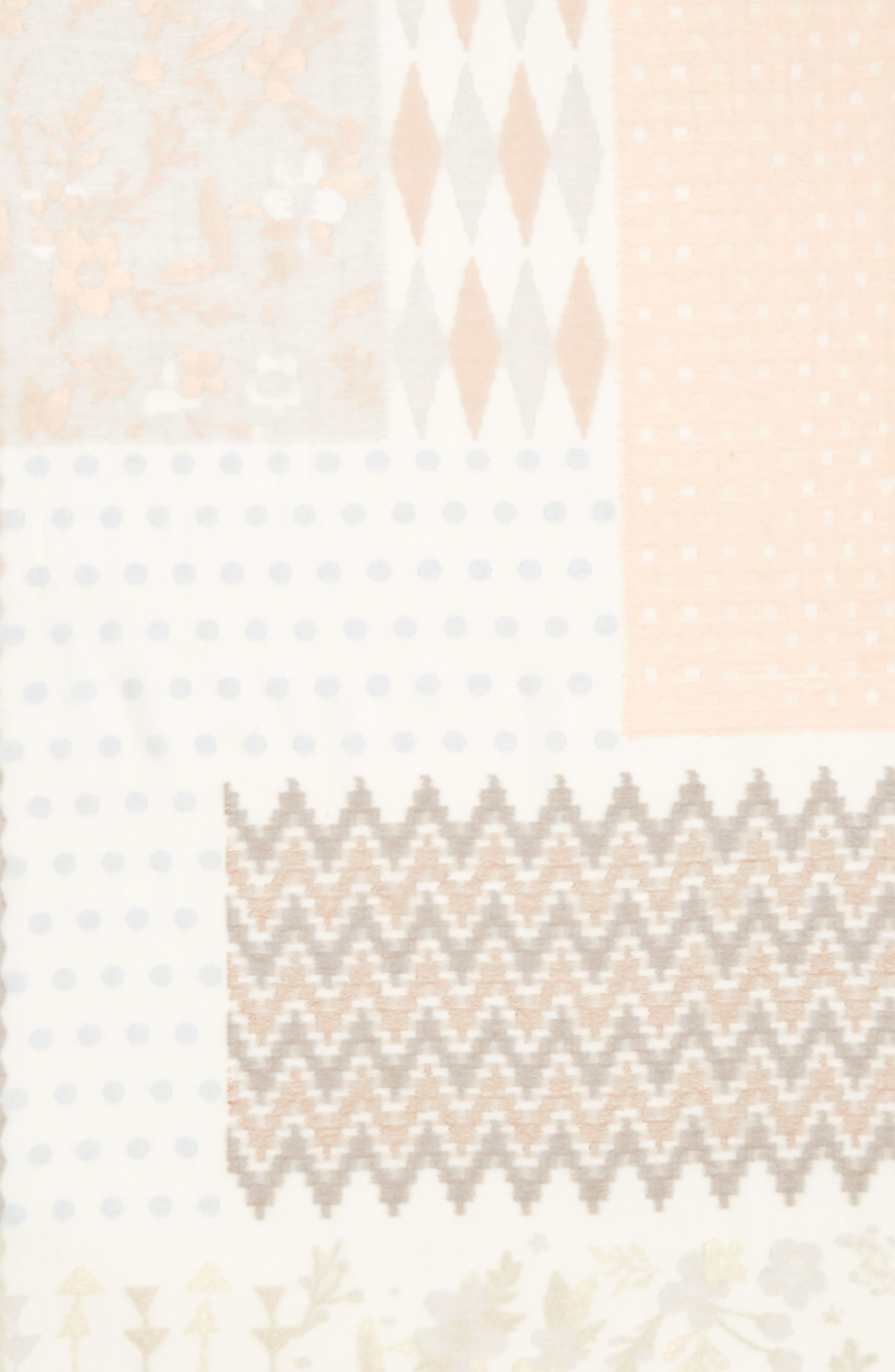 ECHO,                             Patchwork Print Cotton Scarf,                             Alternate thumbnail 4, color,                             101