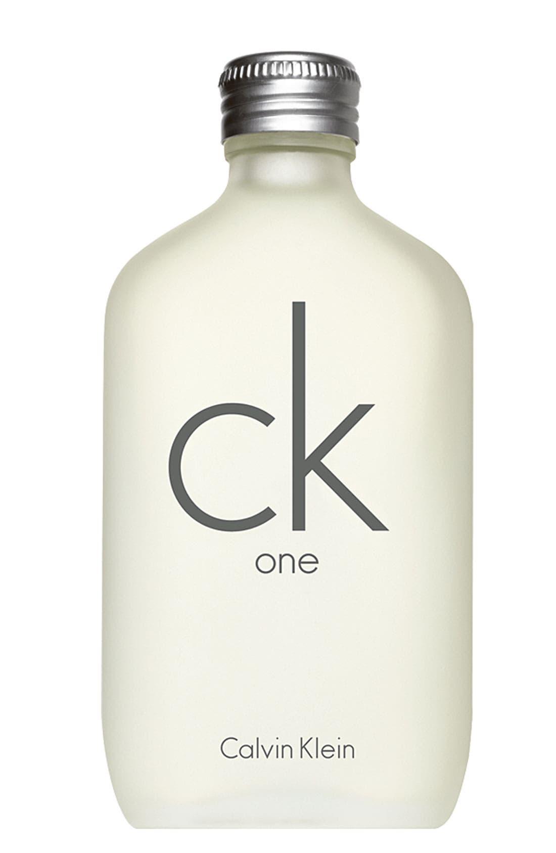ck one by Calvin Klein Eau de Toilette,                             Main thumbnail 1, color,                             000
