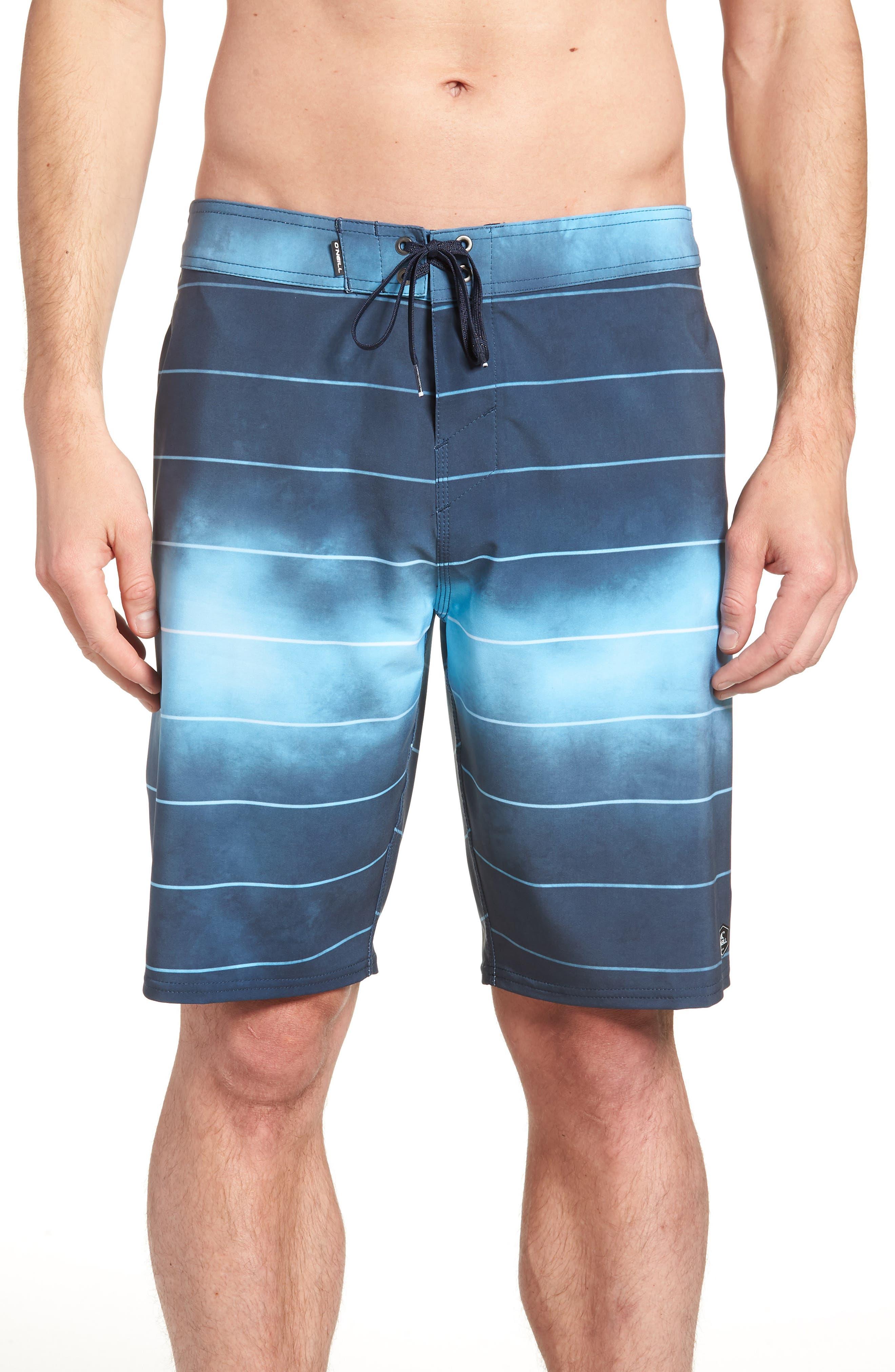 Hyperfreak Smokey Mirrors Board Shorts,                         Main,                         color, NAVY