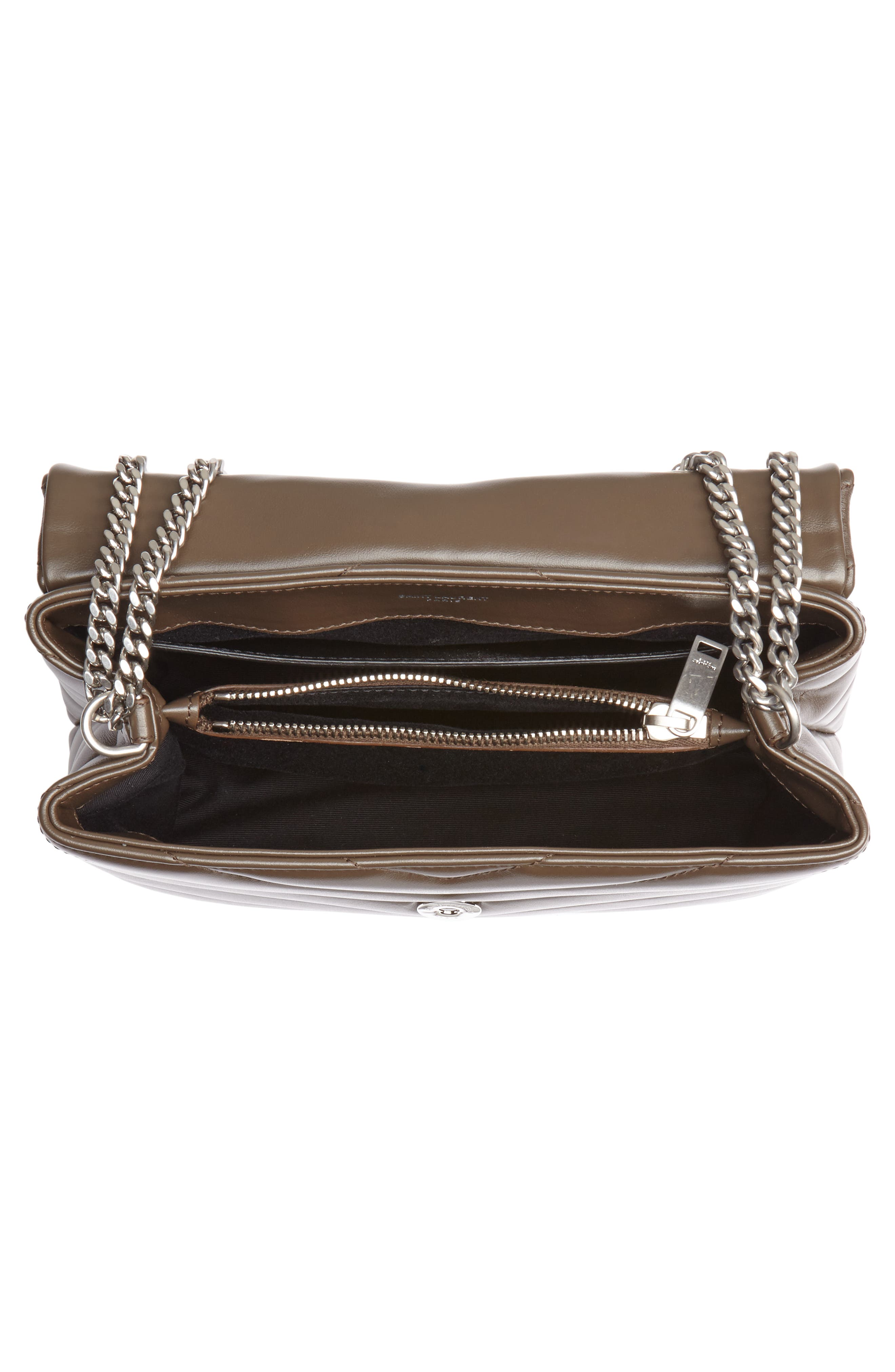 Small Loulou Matelassé Leather Shoulder Bag,                             Alternate thumbnail 4, color,                             FAGGIO/ FAGGIO