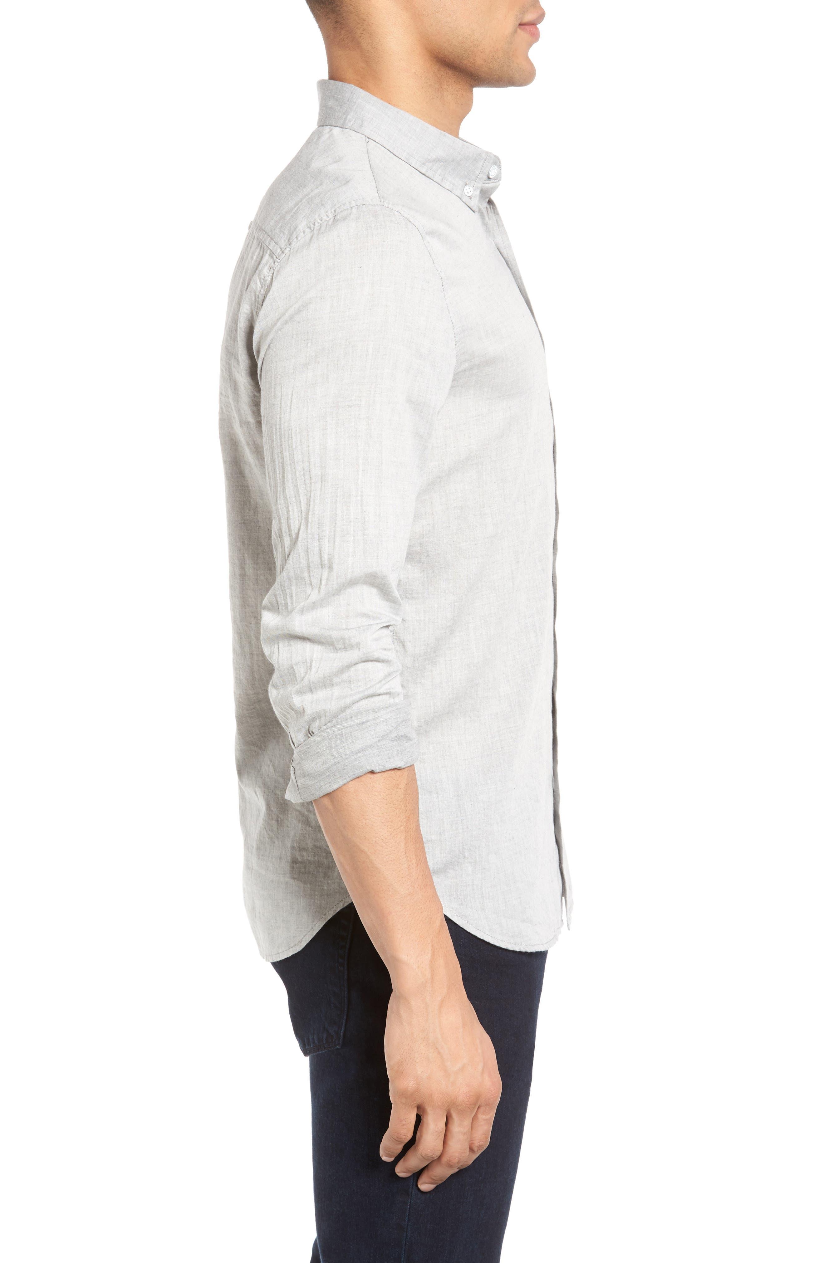 Grady Trim Fit Sport Shirt,                             Alternate thumbnail 3, color,                             022