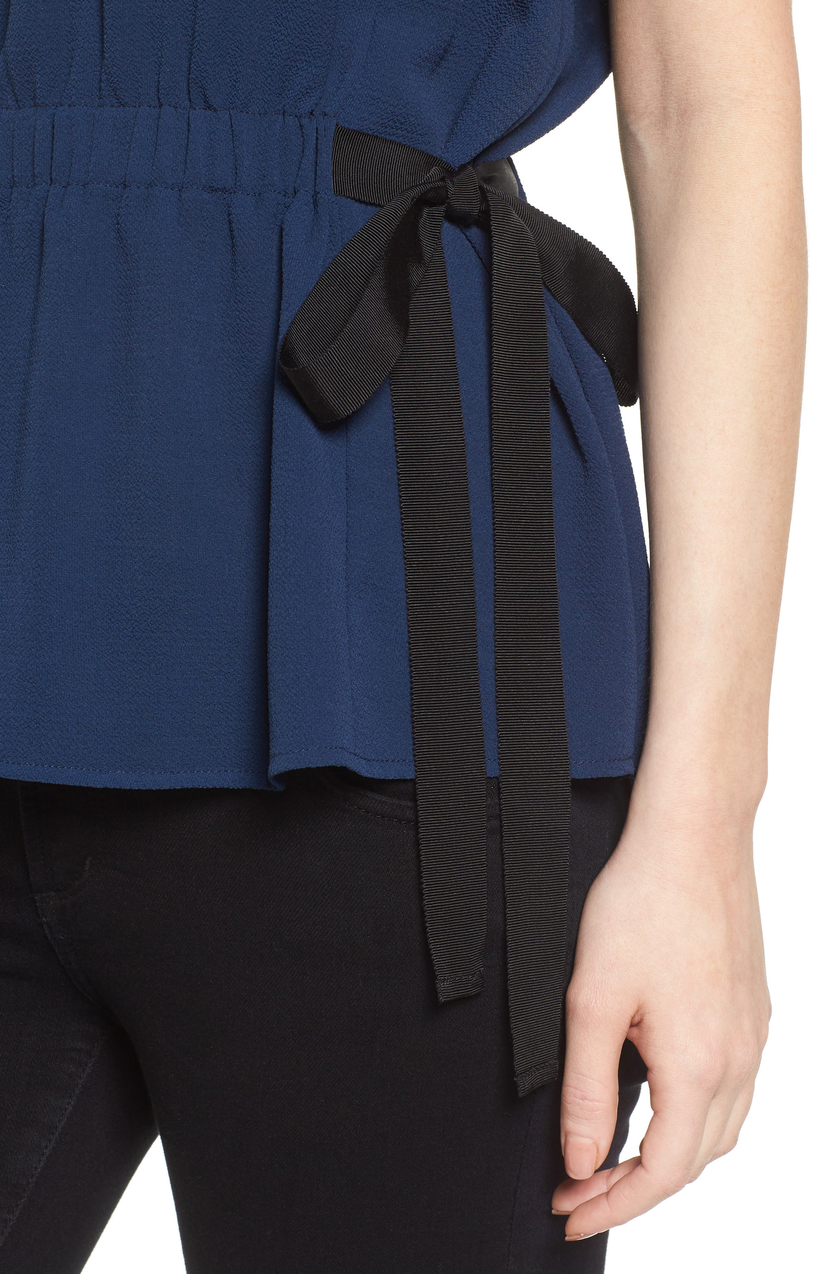 Gathered Waist Side Tie Top,                             Alternate thumbnail 21, color,