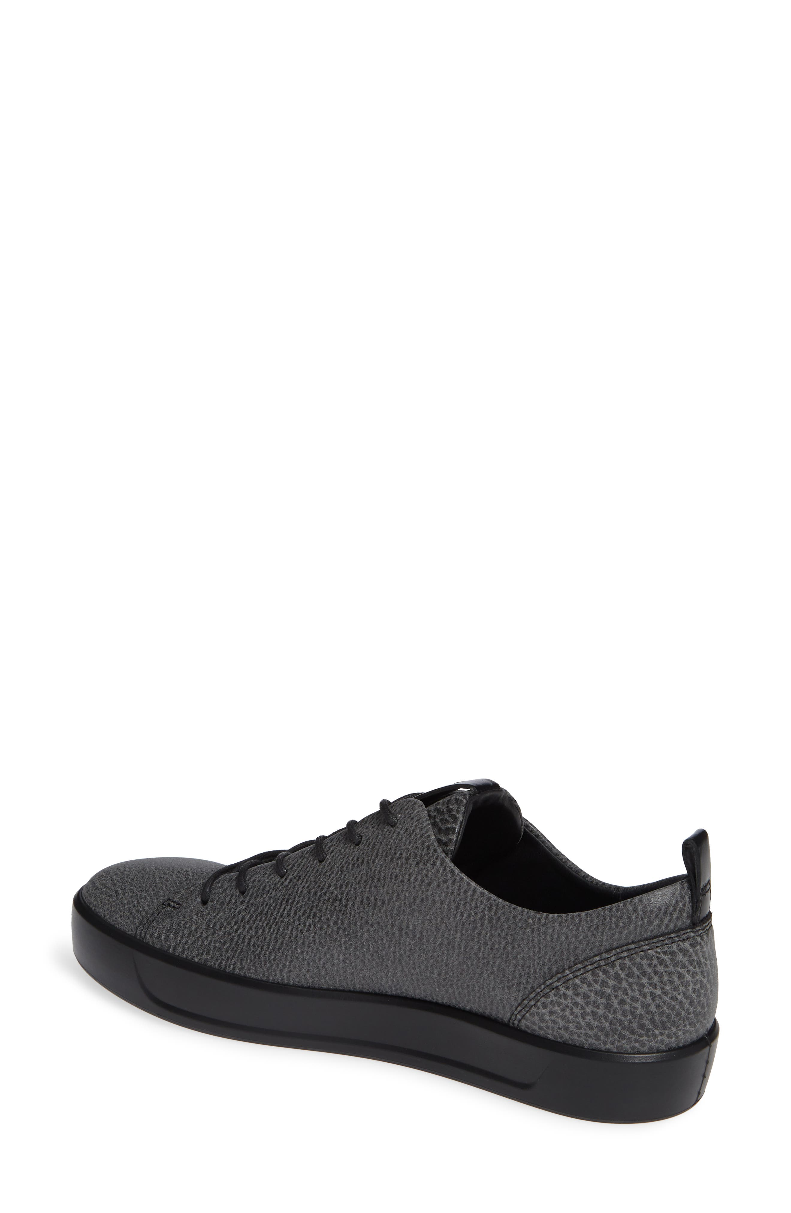 Soft 8 Sneaker,                             Alternate thumbnail 2, color,                             BLACK/ BLACK LEATHER