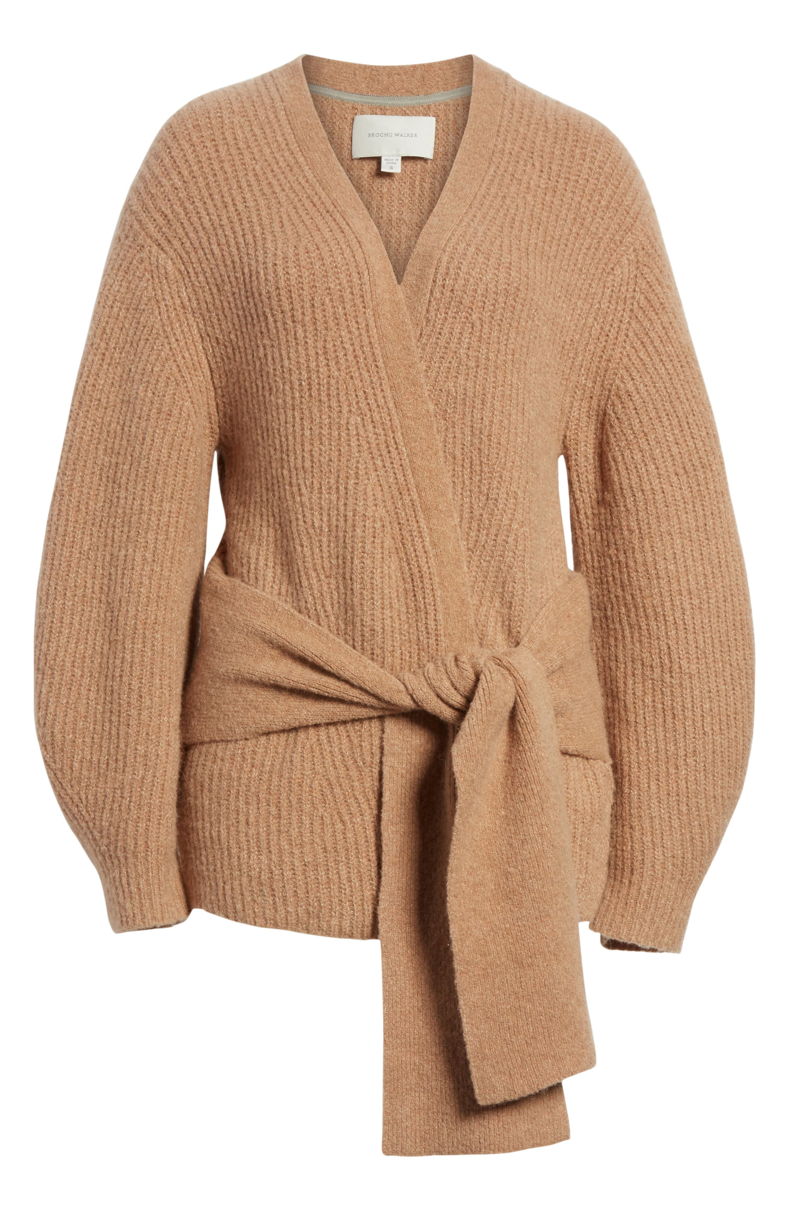 Hansen Belted Cardigan,                             Alternate thumbnail 6, color,                             020