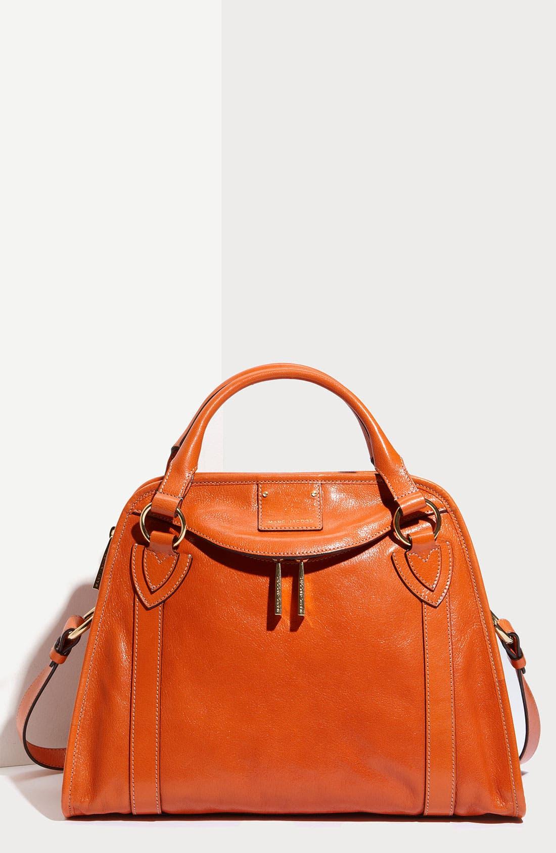 'Classic Wellington' Leather Satchel,                             Main thumbnail 12, color,