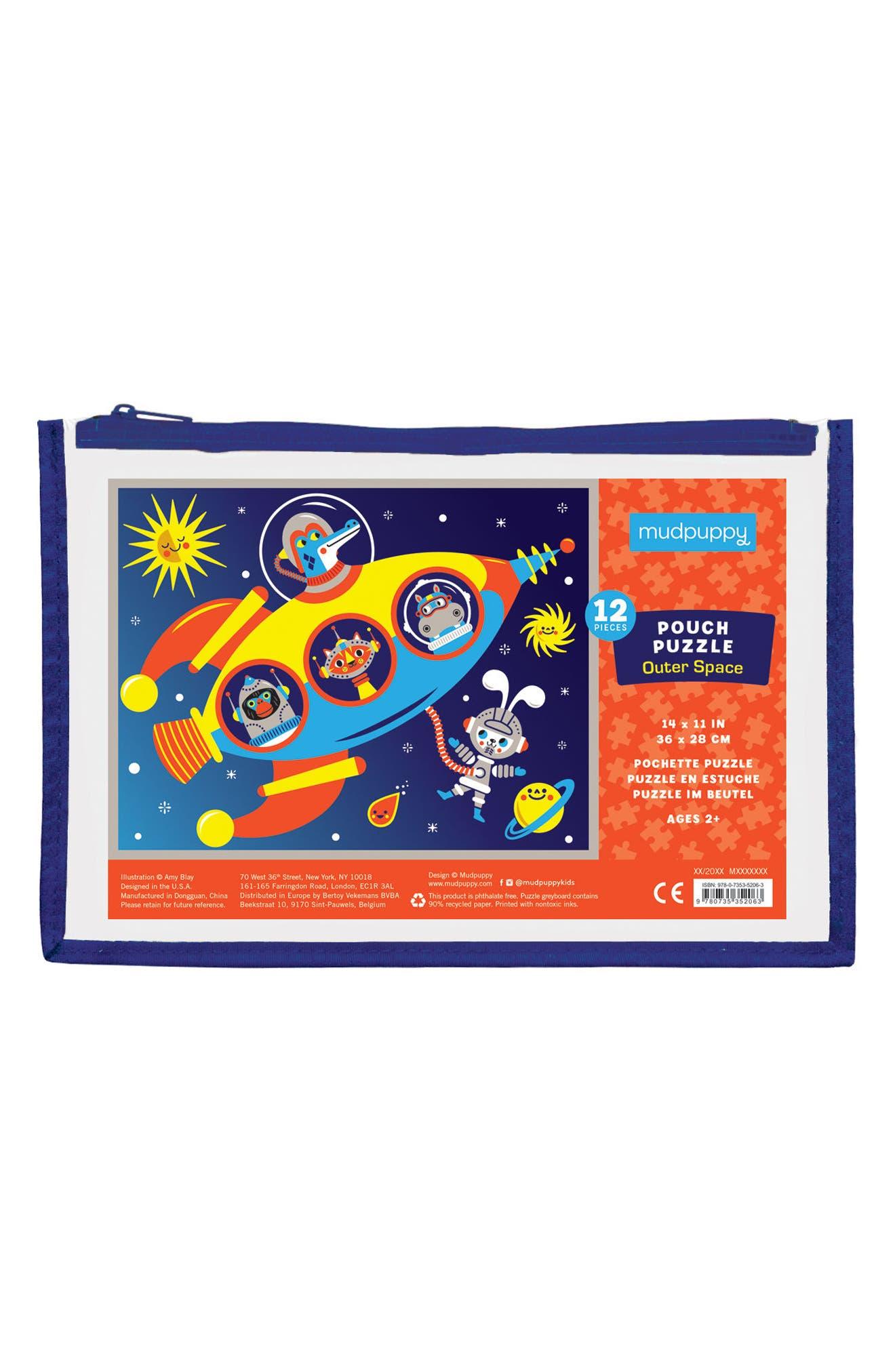 12-Piece Outer Space Pouch Puzzle,                             Main thumbnail 1, color,                             800