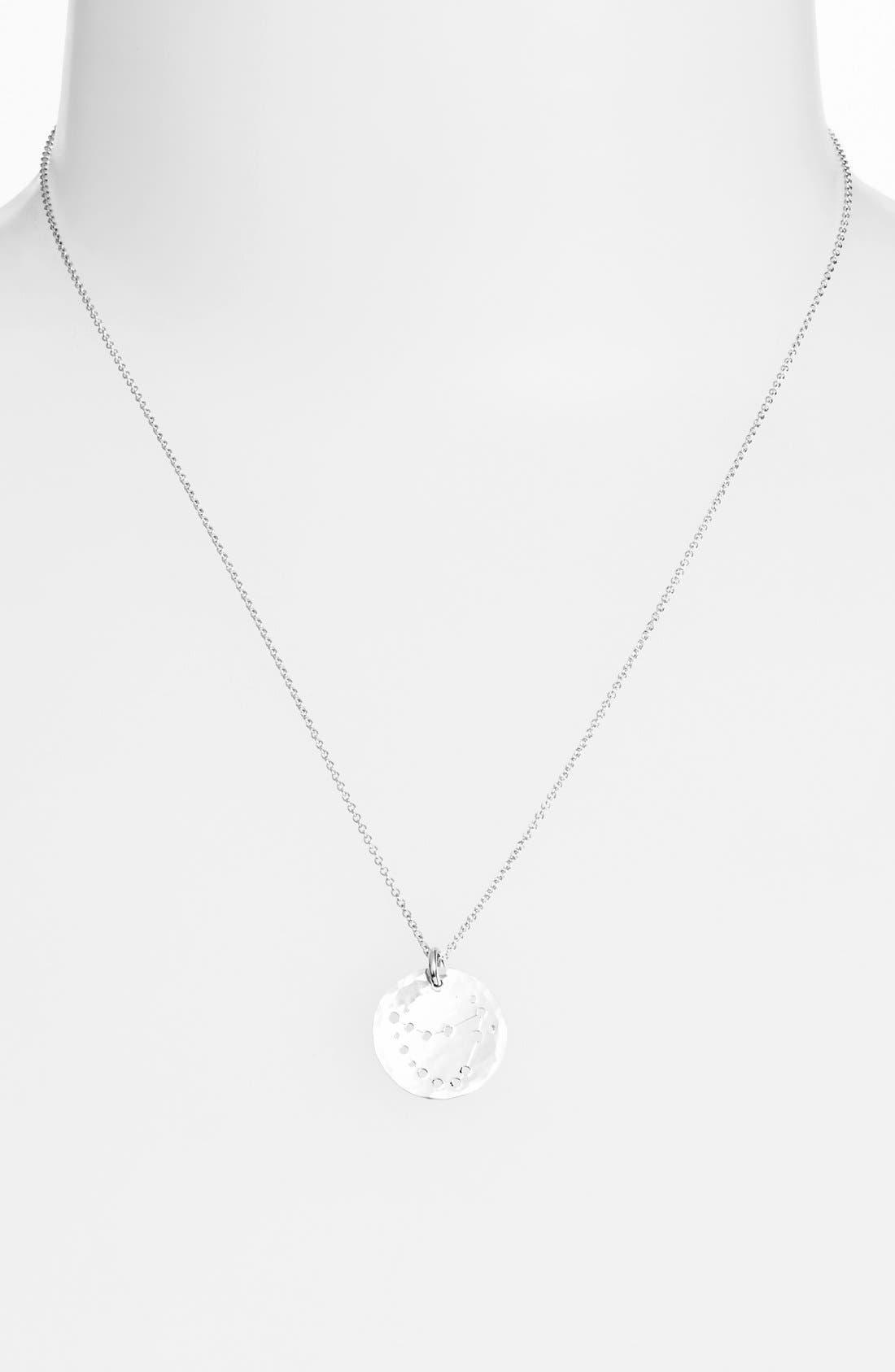 Ija 'Small Zodiac' Sterling Silver Necklace,                             Main thumbnail 10, color,